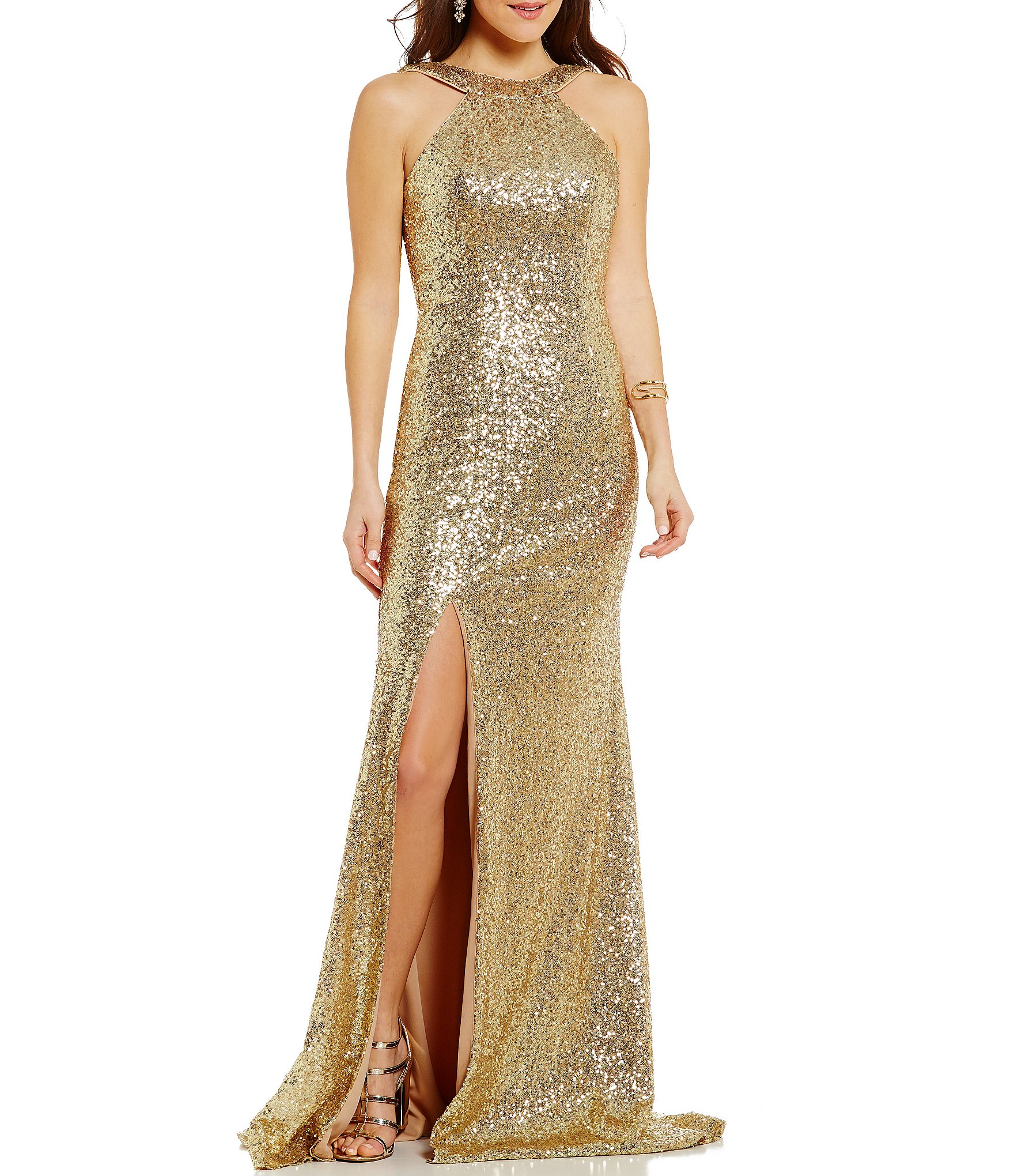 Glamour by terani couture high neck sequin embellished for High couture dresses