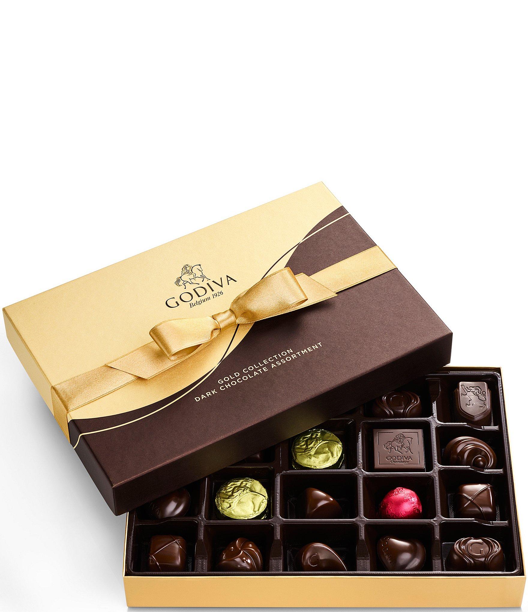 Godiva Chocolatier Dark Chocolate Gift Box Fall Ribbon 27
