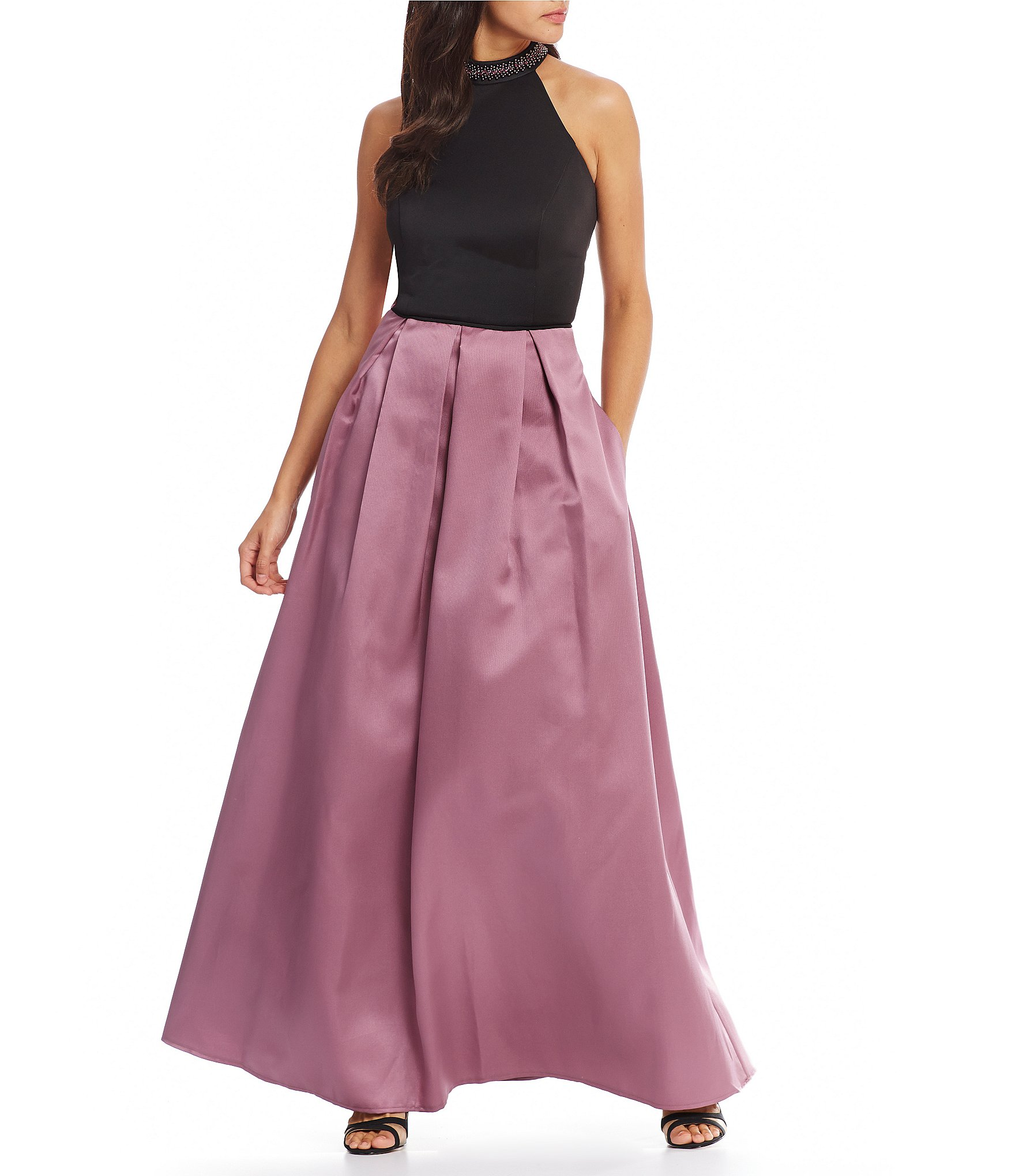 Elderberry wine color dress