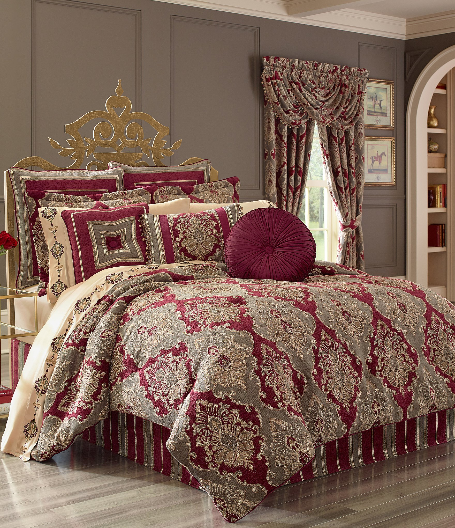 Bedding Bedding Collections Dillards - Blue and brown damask comforter