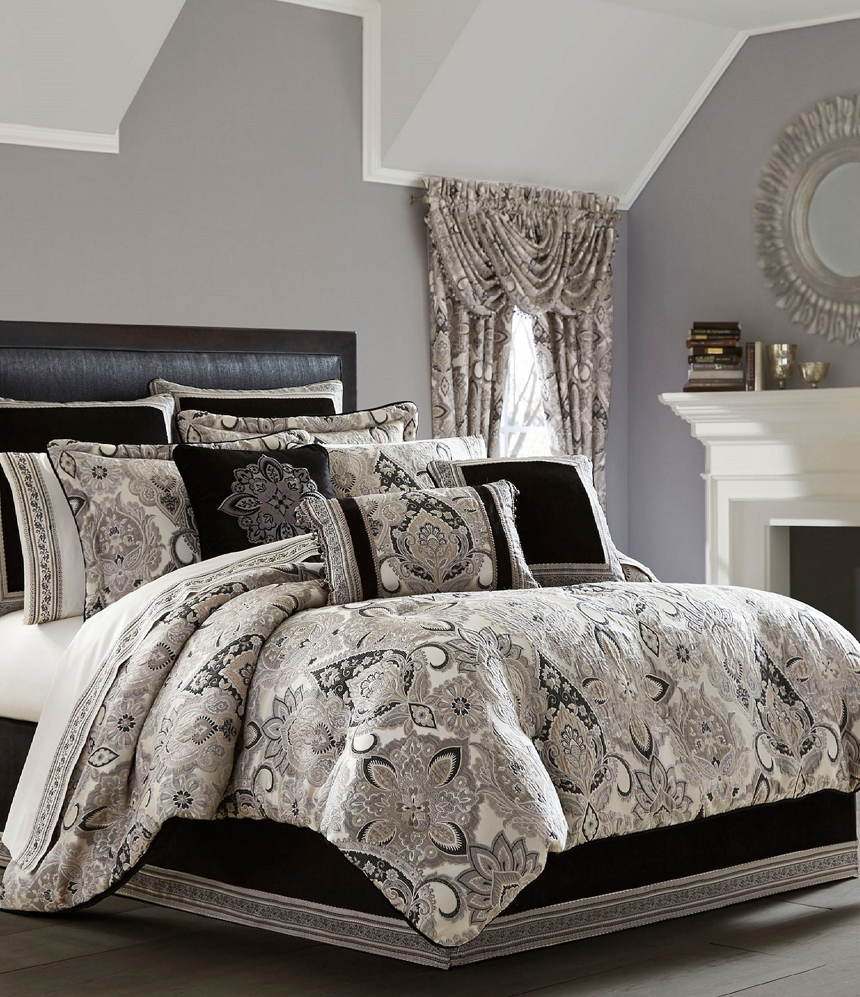 Queen new york luxembourg comforter set in antique silver bed - Queen New York Luxembourg Comforter Set In Antique Silver Bed 18