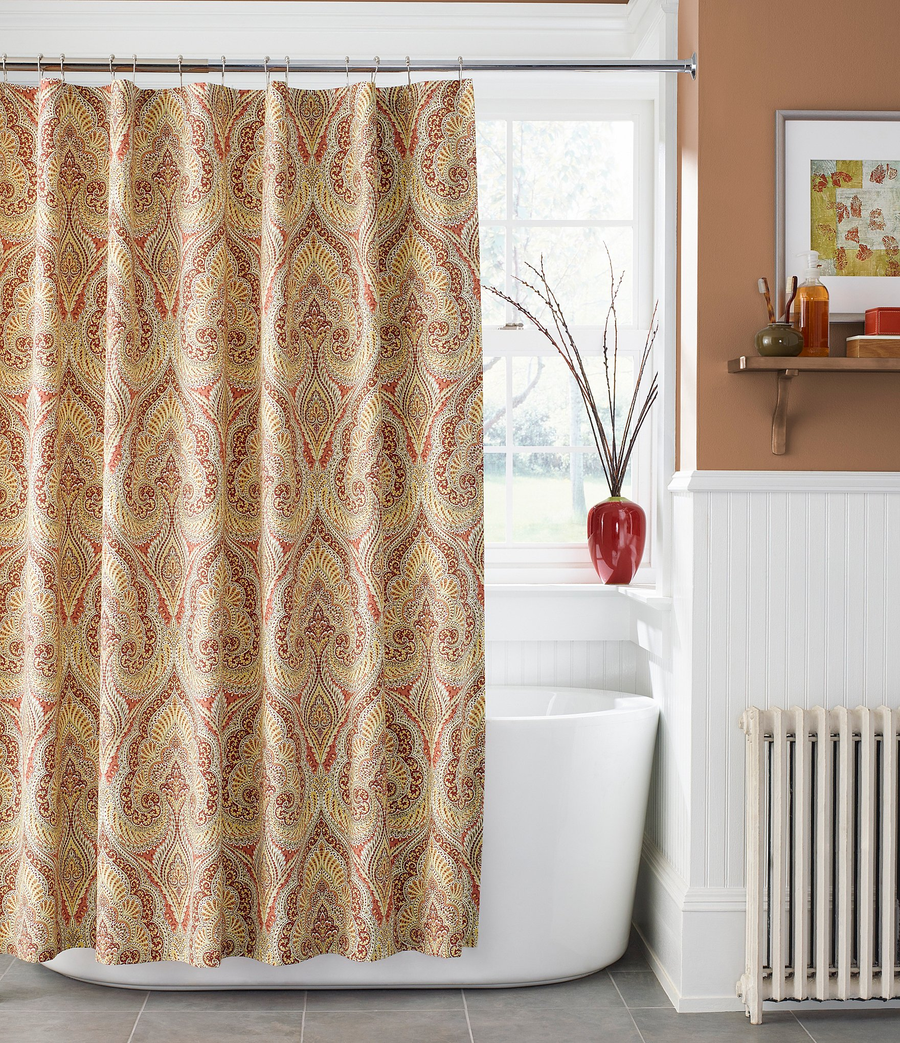 J queen new york lucca shower curtain dillards for Dillards bathroom accessories sets