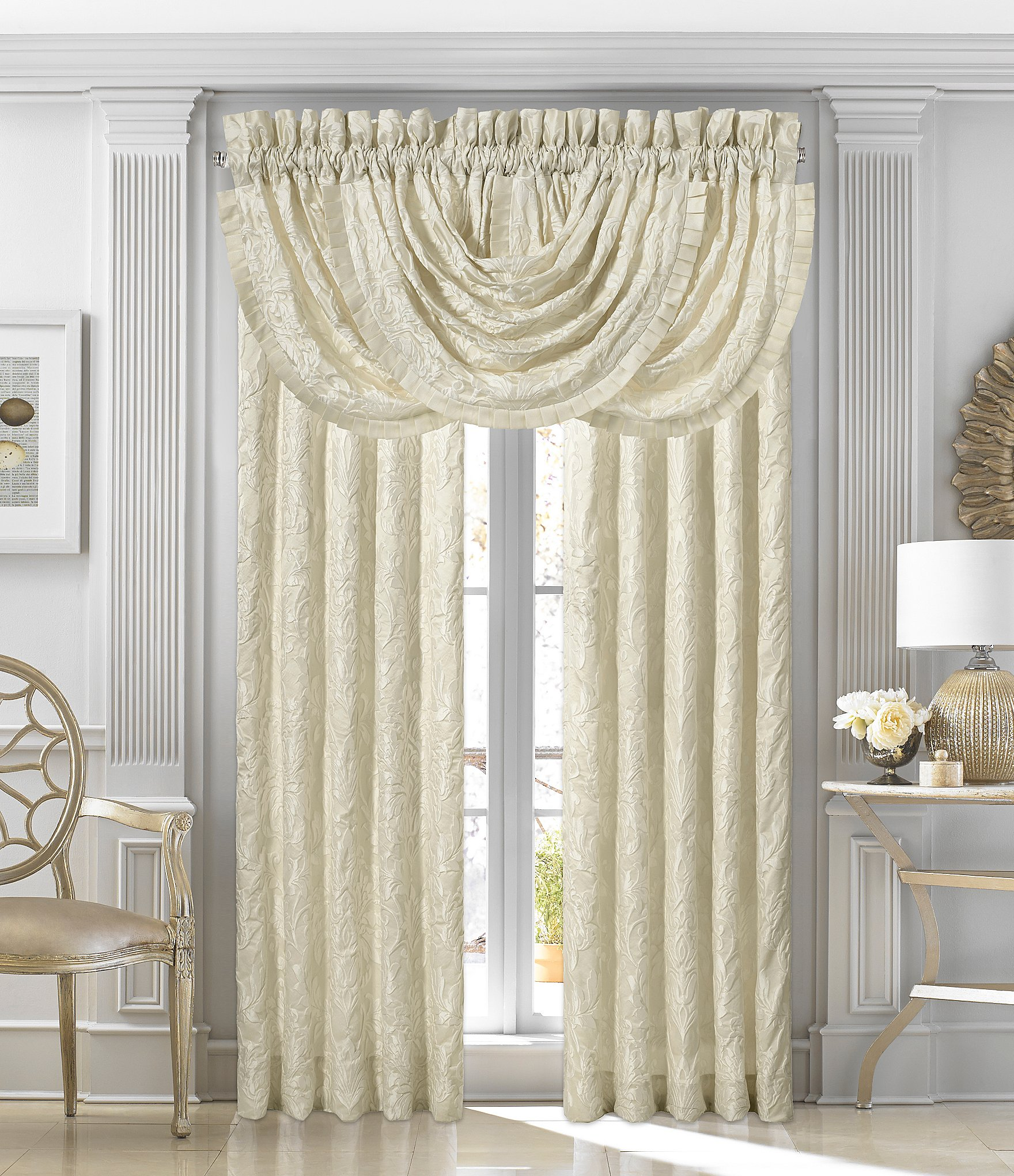 valance walmart com ip pair ruffled window and eyelet ivory sold panel separately collection