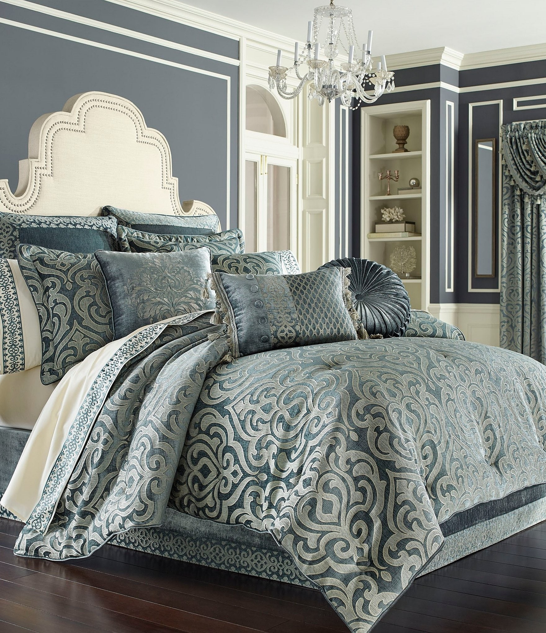 aqua jill capristripe rosenwald bedding jillrosenwald products seaside capri seasideaqua beddingensemble bed comforter stripe set teal