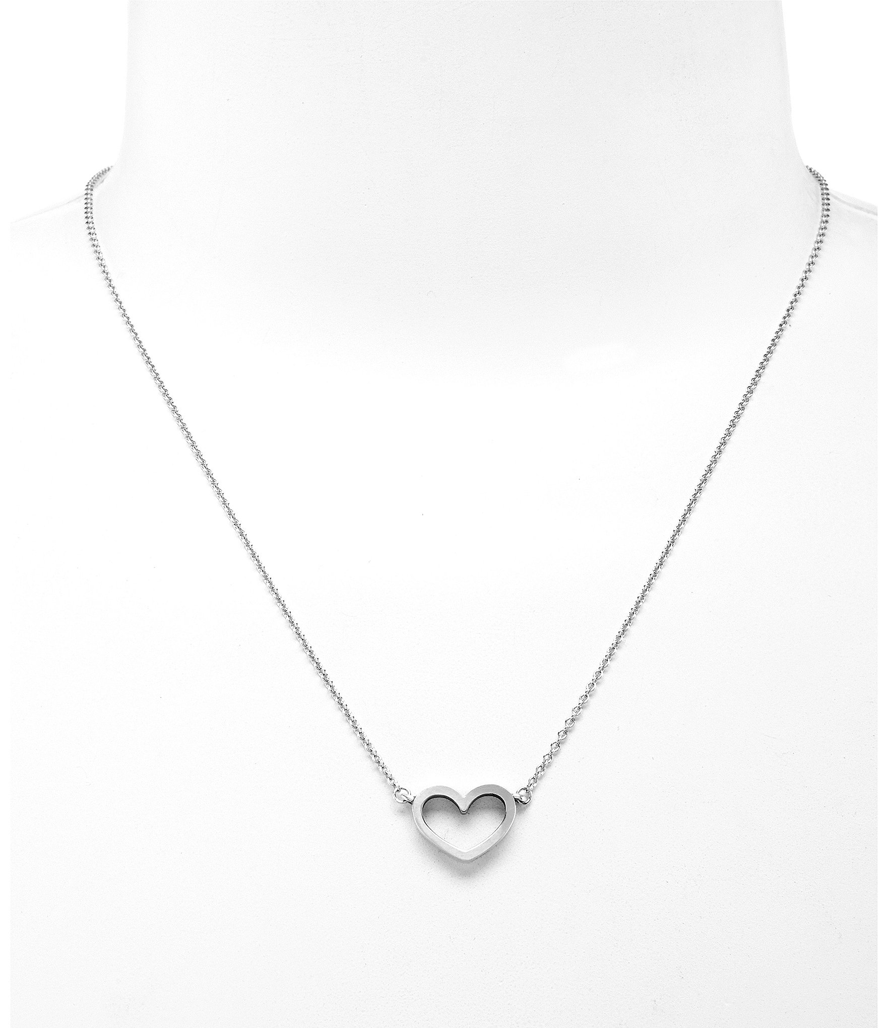medallion mini products borboleta heart plain necklace with