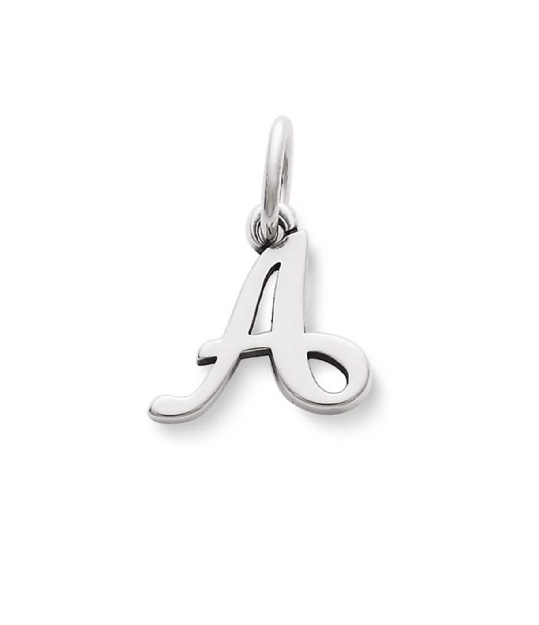 James Avery Sterling Silver Script Initial Bracelet Or
