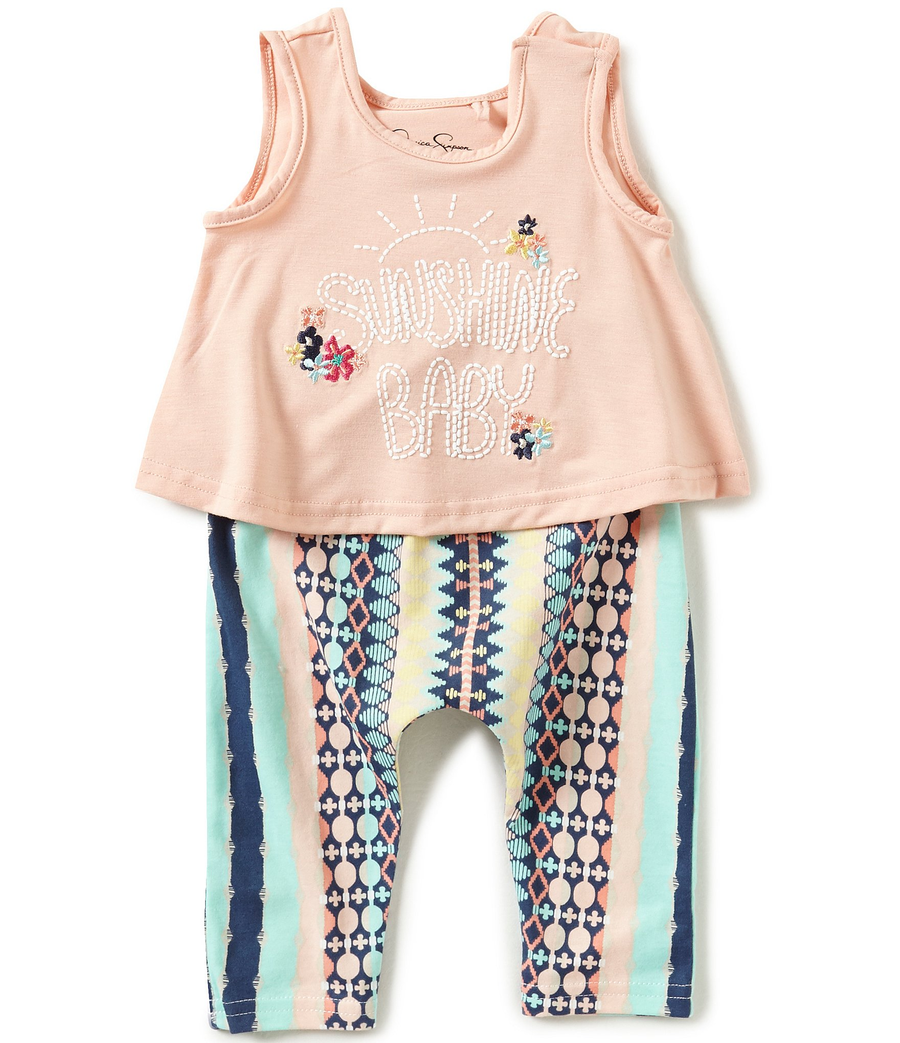 Jessica Simpson Baby Girls 0 9 Months Sunshine Baby Tank