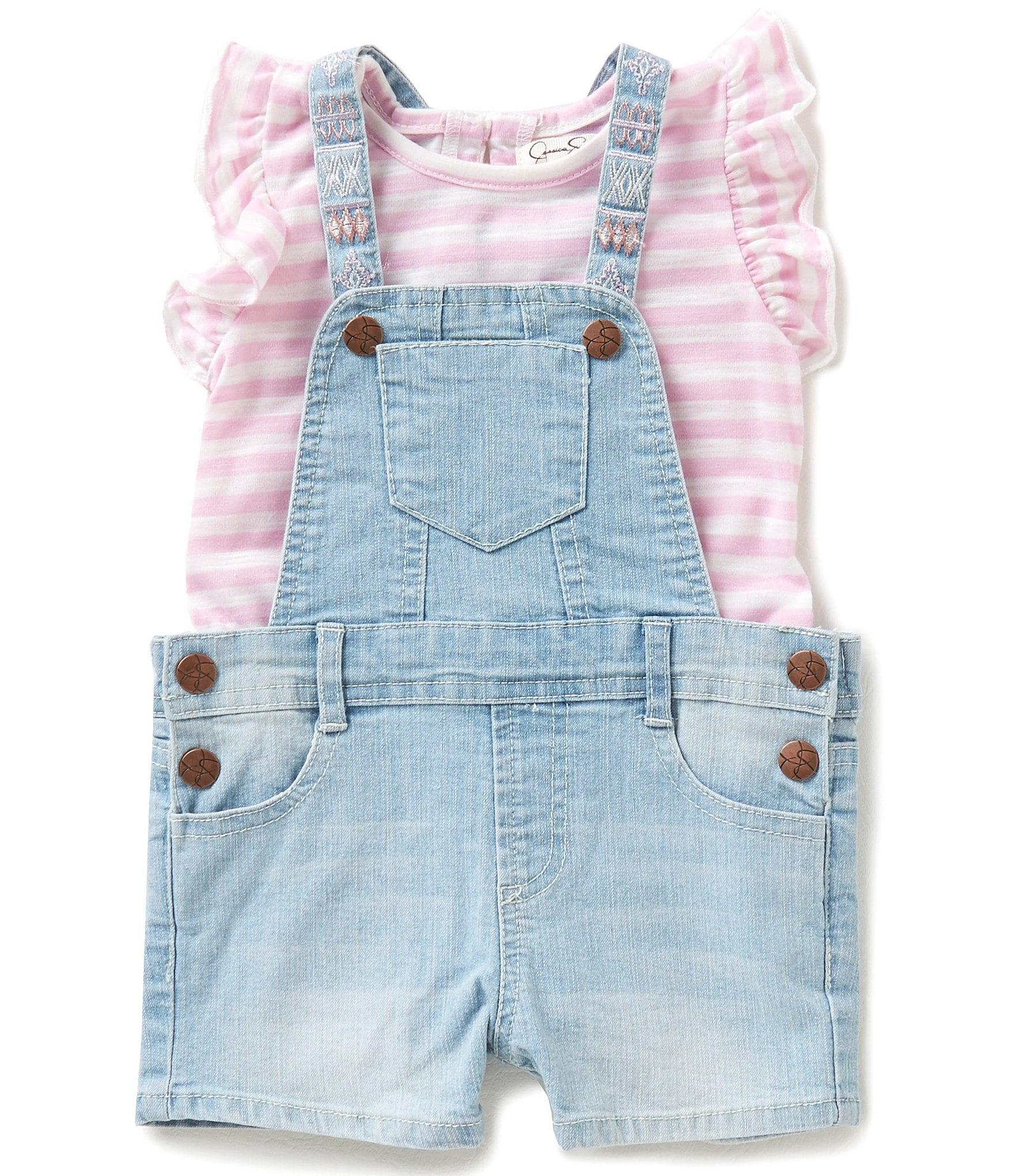 Jessica Simpson Baby Girls 12 24 Months Denim Shortall