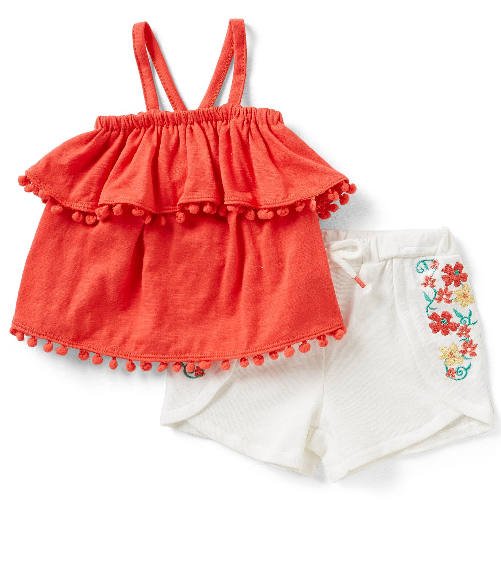 Jessica Simpson Baby Girls 12 24 Months Solid Popover