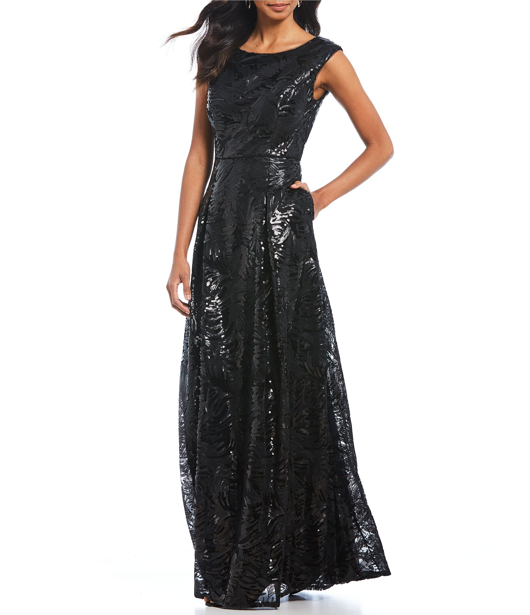 Women\'s Cap-Sleeve Formal Dresses & Gowns | Dillards