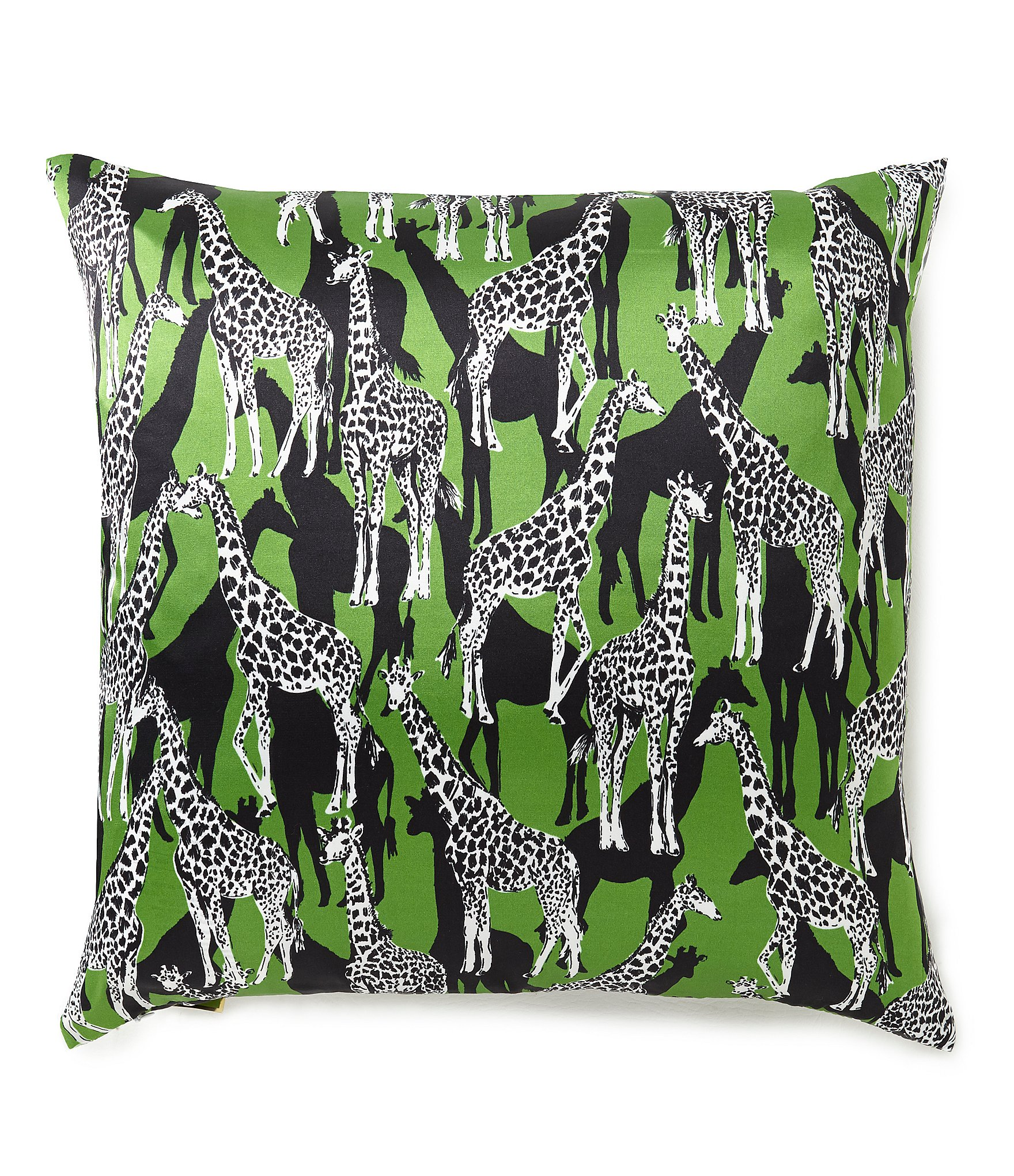 kate spade new york Giraffe Silk & Cotton Square Feather Pillow Dillards