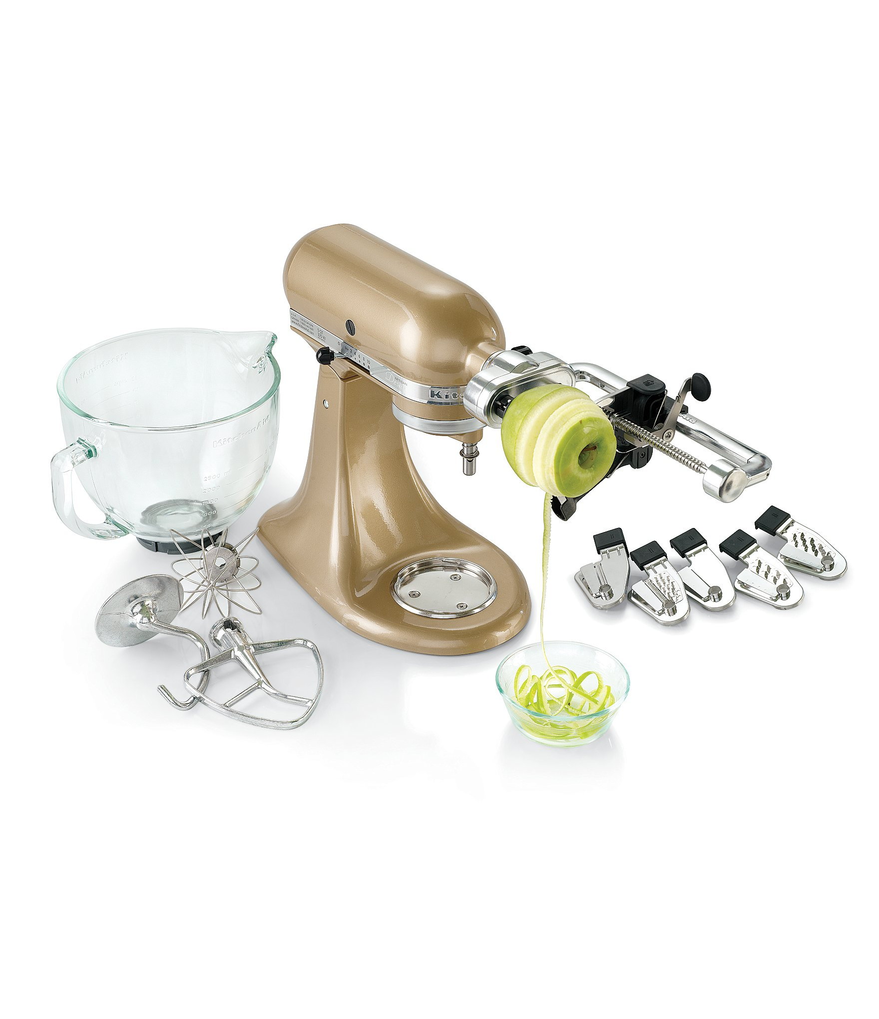 Kitchenaid Attachments Spiralizer Kitchenaid Spiralizer Plus With Peel Core And Slice Stand Mixer