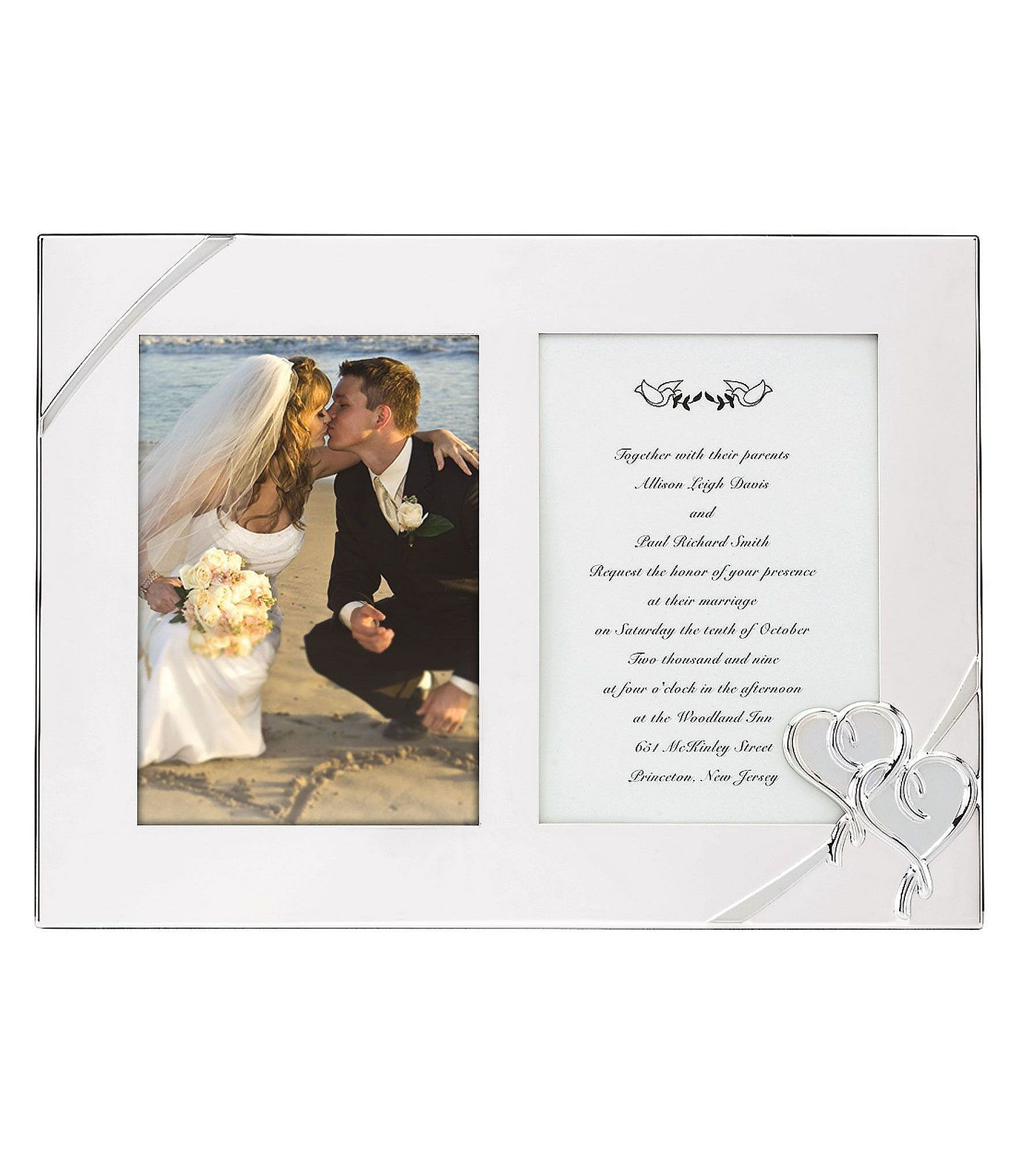Dillards Wedding Gifts: Lenox True Love Double Wedding Invitation Picture Frame