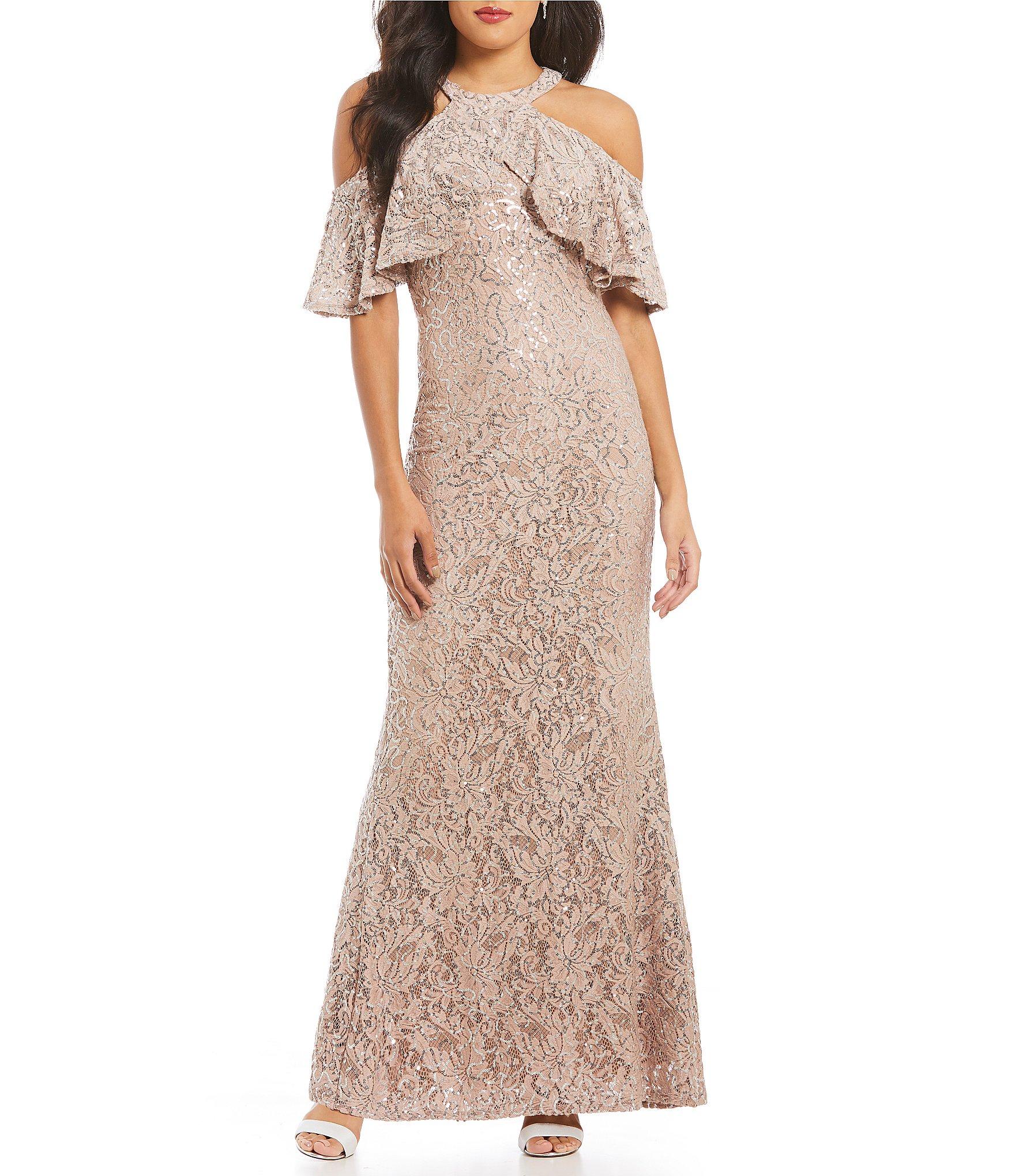 Champagne Lace Dress Leslie Faye
