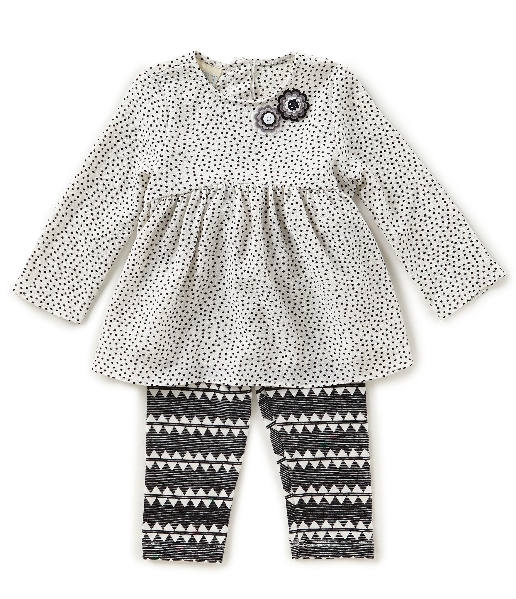 Marmellata Baby Girls 12 24 Months Dotted A Line Dress & Zigzag