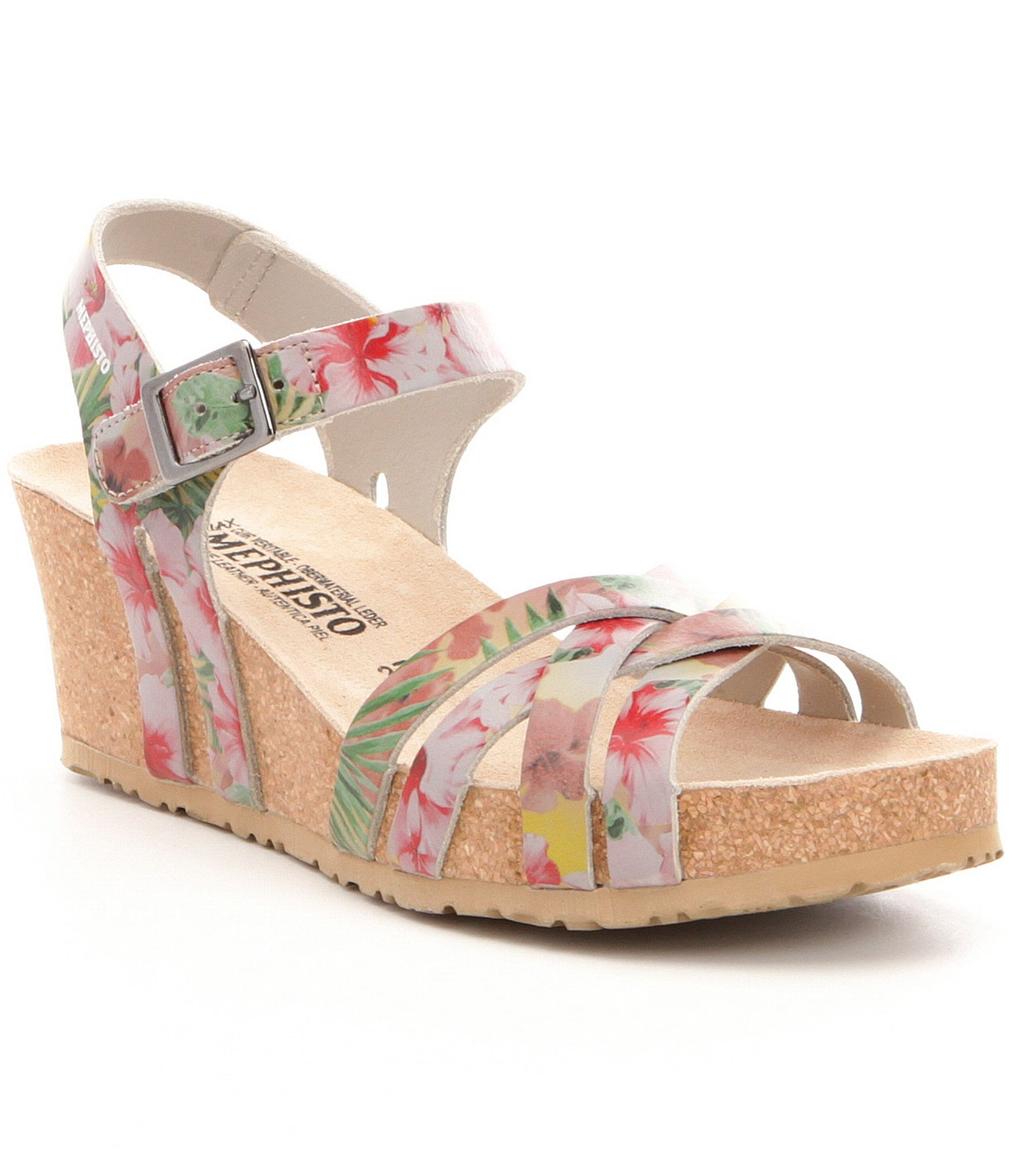 e333deb588c325 Mephisto Lanny Wedge Sandals
