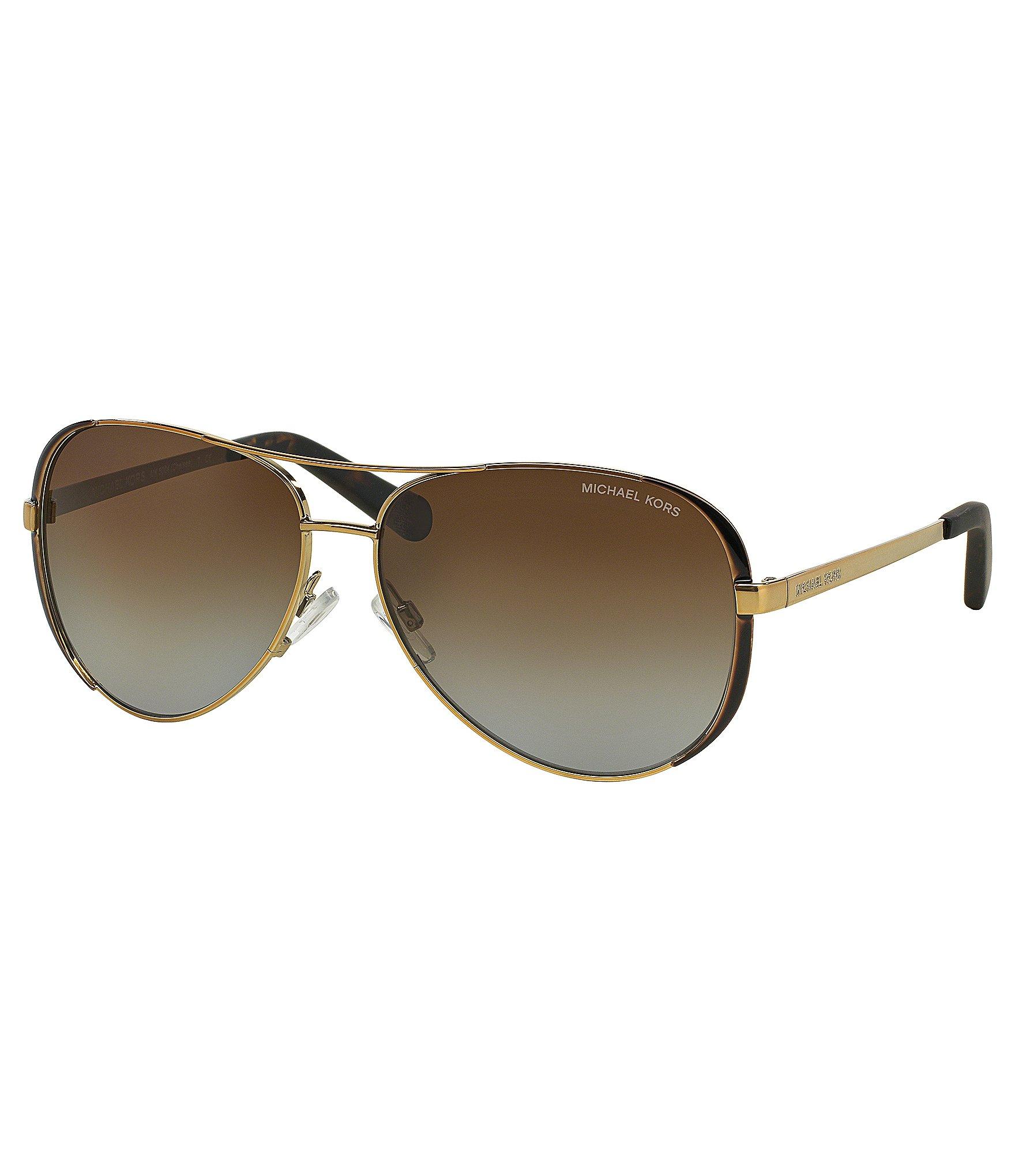 michael kors chelsea polarized aviator sunglasses dillards. Black Bedroom Furniture Sets. Home Design Ideas