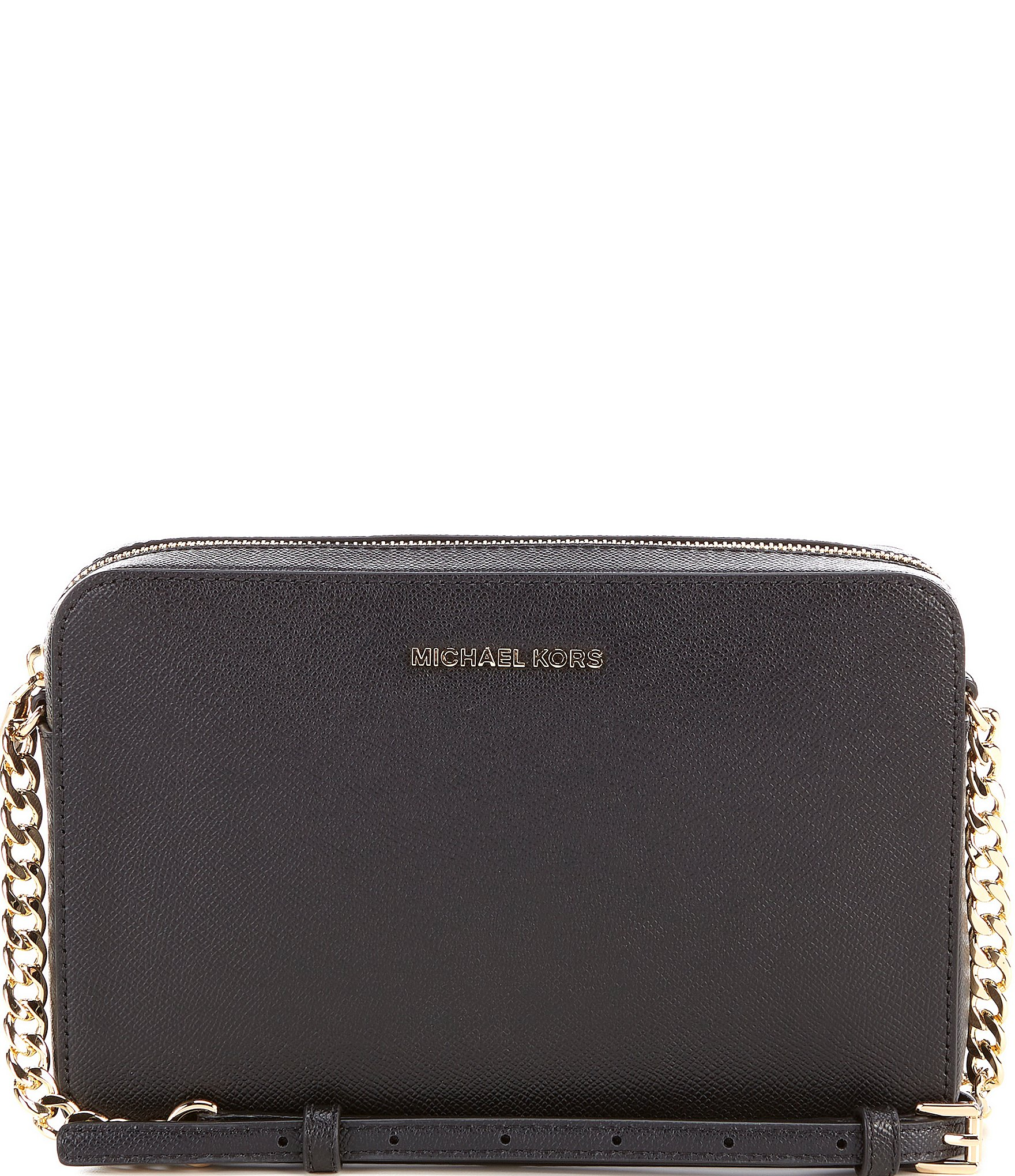 Michael Kors Mini Guitar Strap Crossbody (Black) Cross Body Handbags OsHBSnAWsq