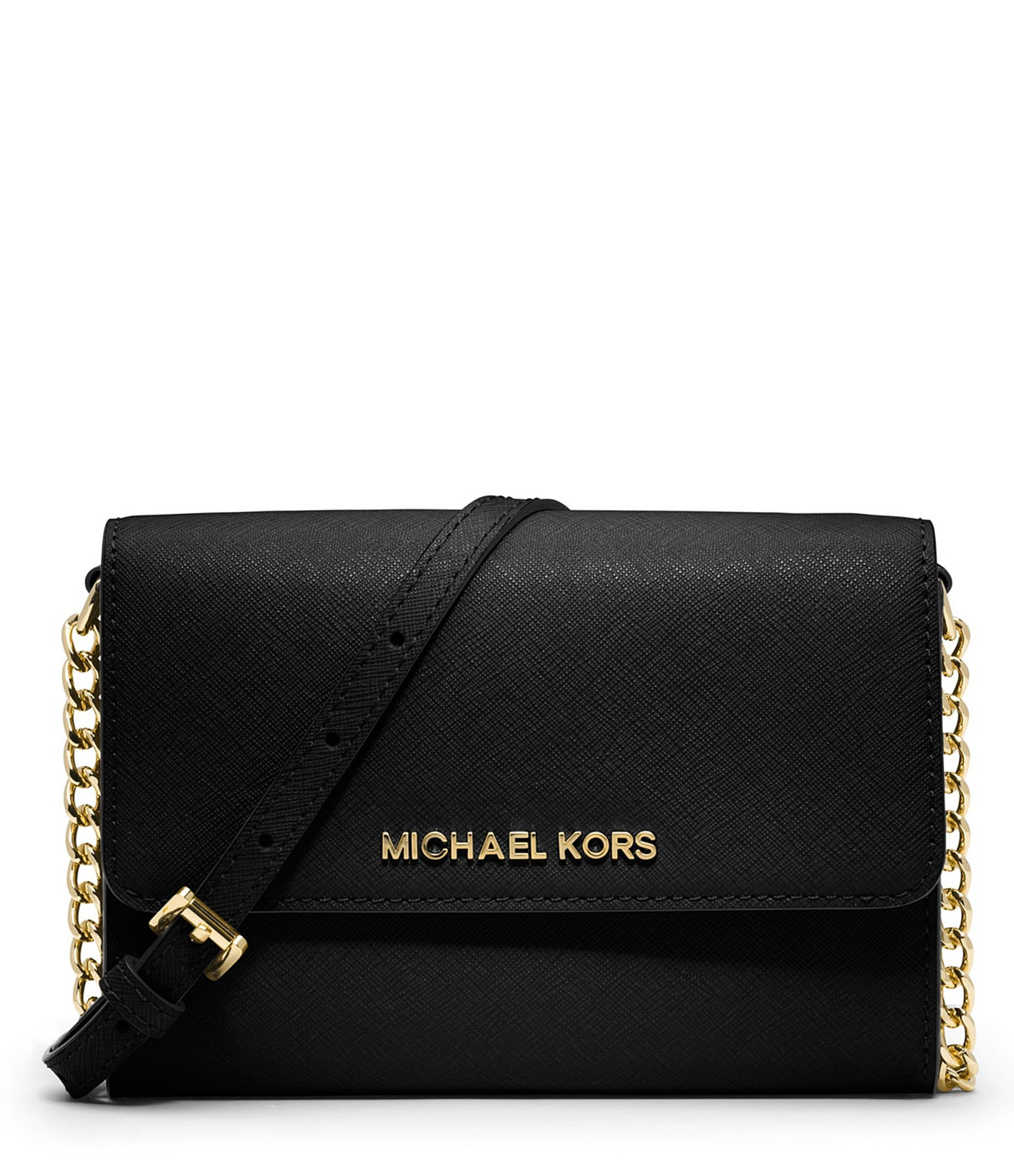 michael michael kors jet set travel large phone cross body bag dillards. Black Bedroom Furniture Sets. Home Design Ideas