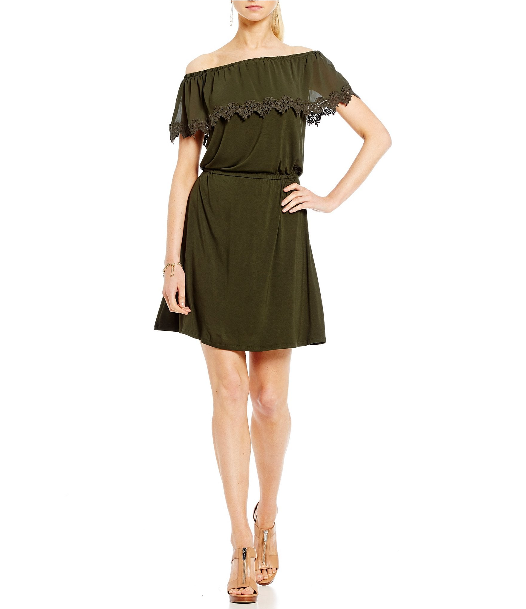 ff3bc39db8373 Buy michael kors off shoulder dress   OFF61% Discounted