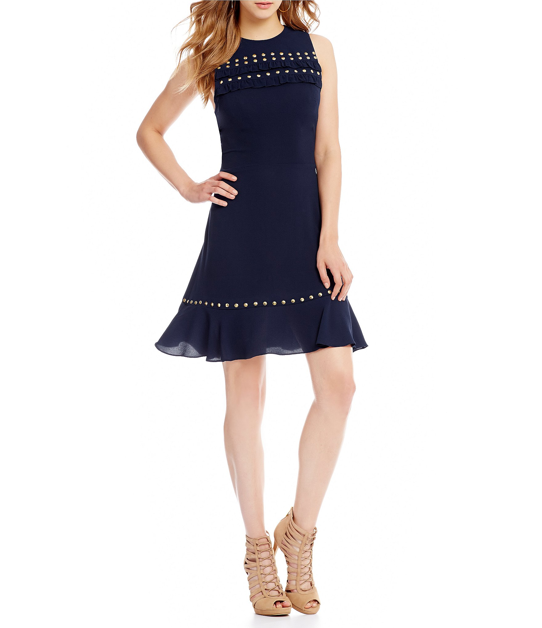 Buy michael kors gowns navy > OFF37% Discounted