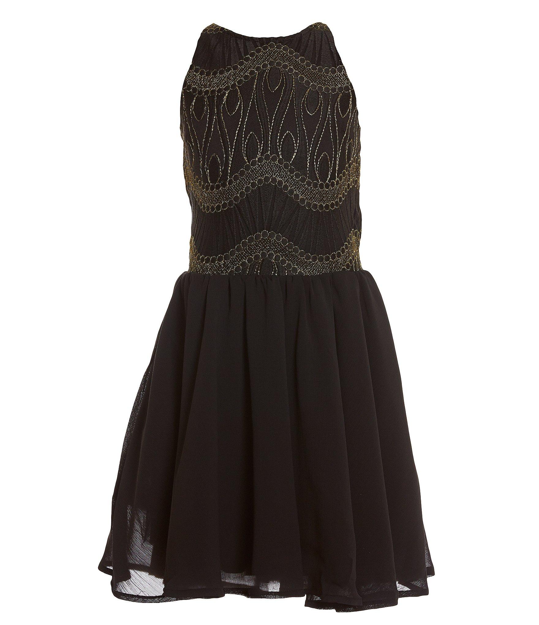 Black dress age 8 fl
