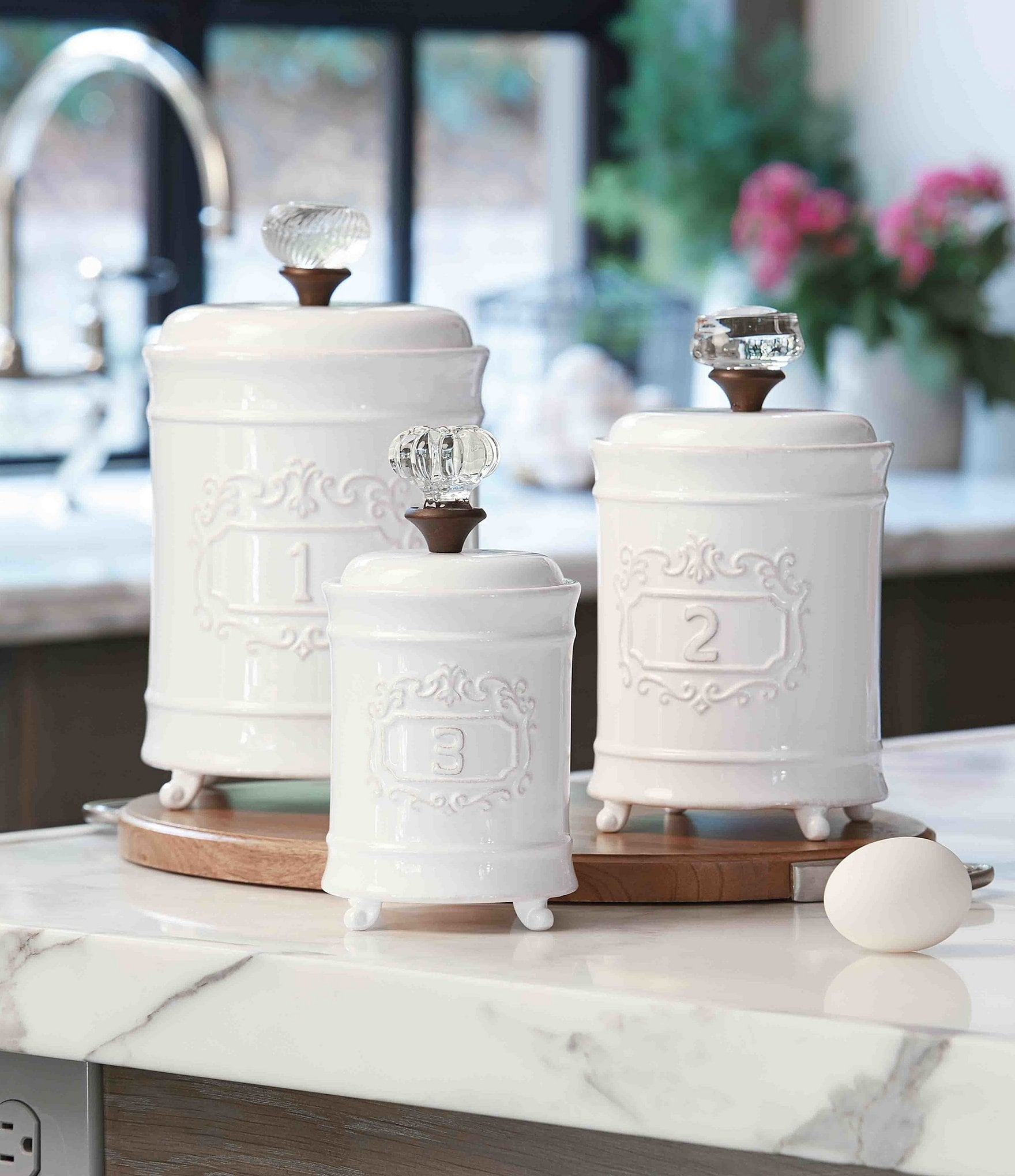 Mud Pie Farmhouse Circa Vintage Doorknob Canisters Set Of