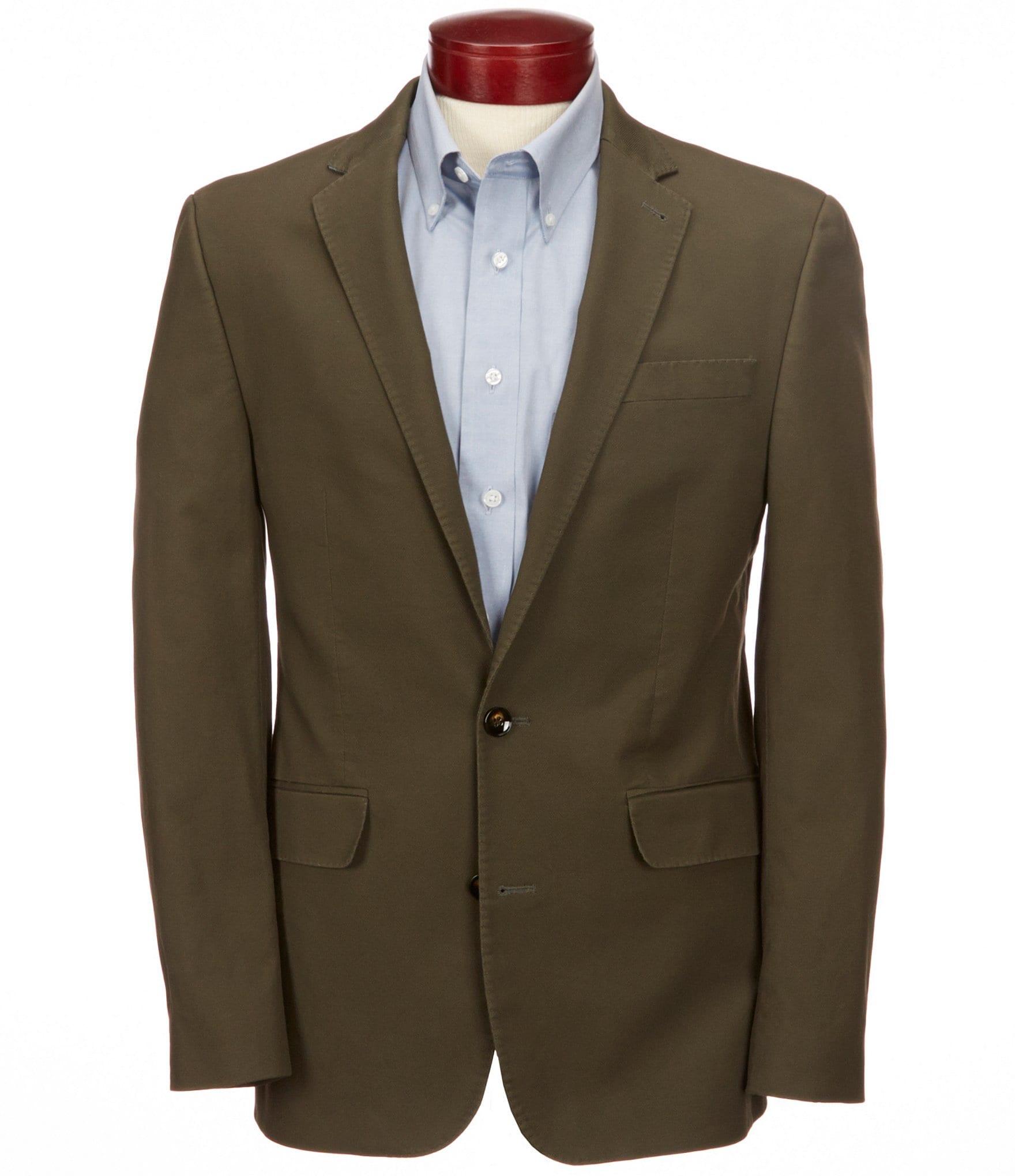 Blazers Dublin: Murano Dublin Collection Slim-Fit Solid Blazer