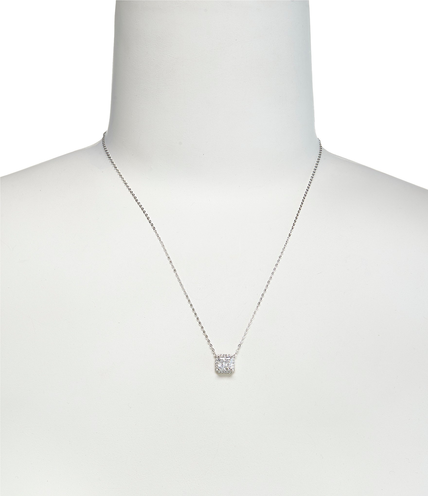 diamond necklace dsc pave square