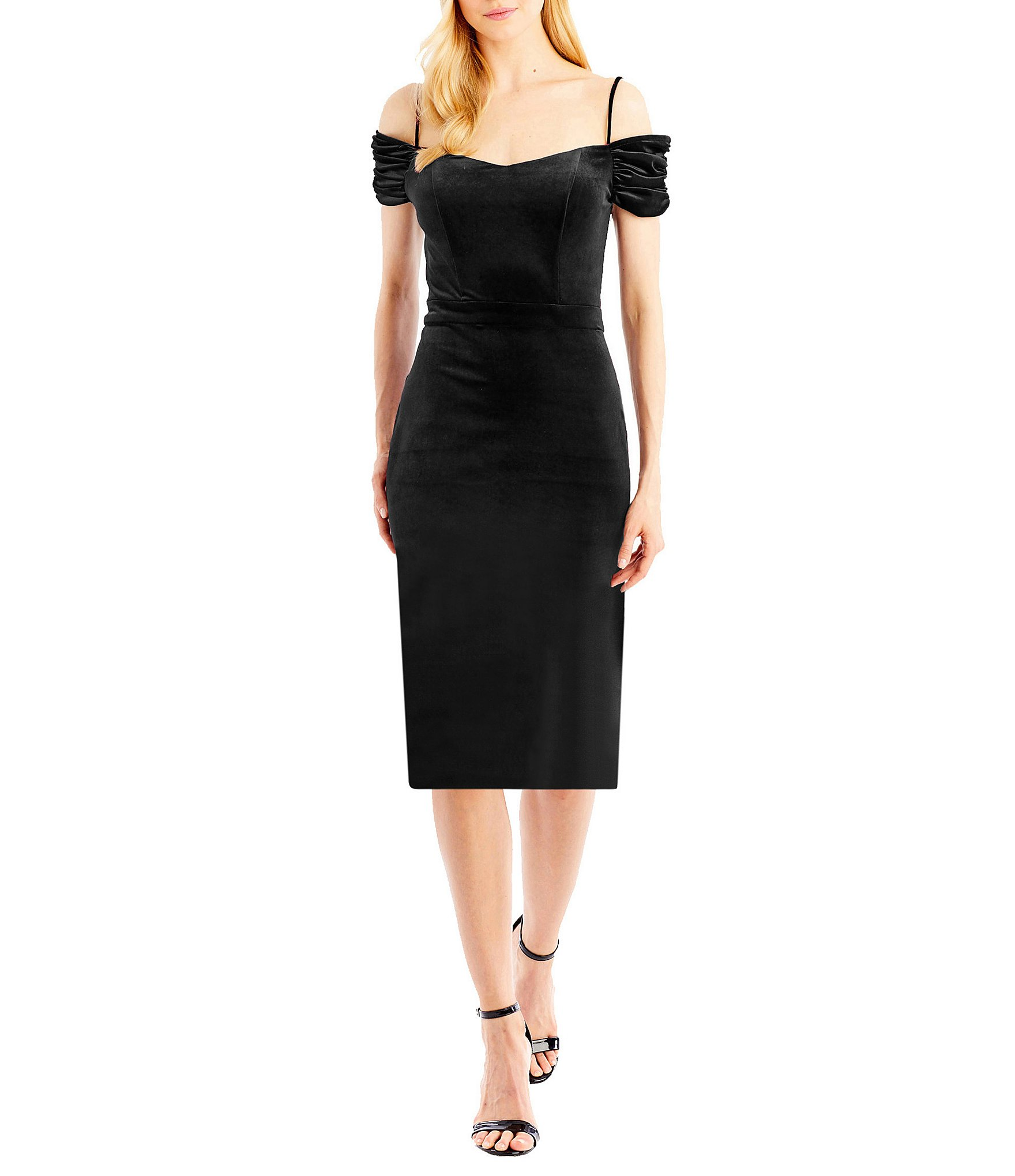 Sl fashions new york sheer yoke sweetheart cocktail dress