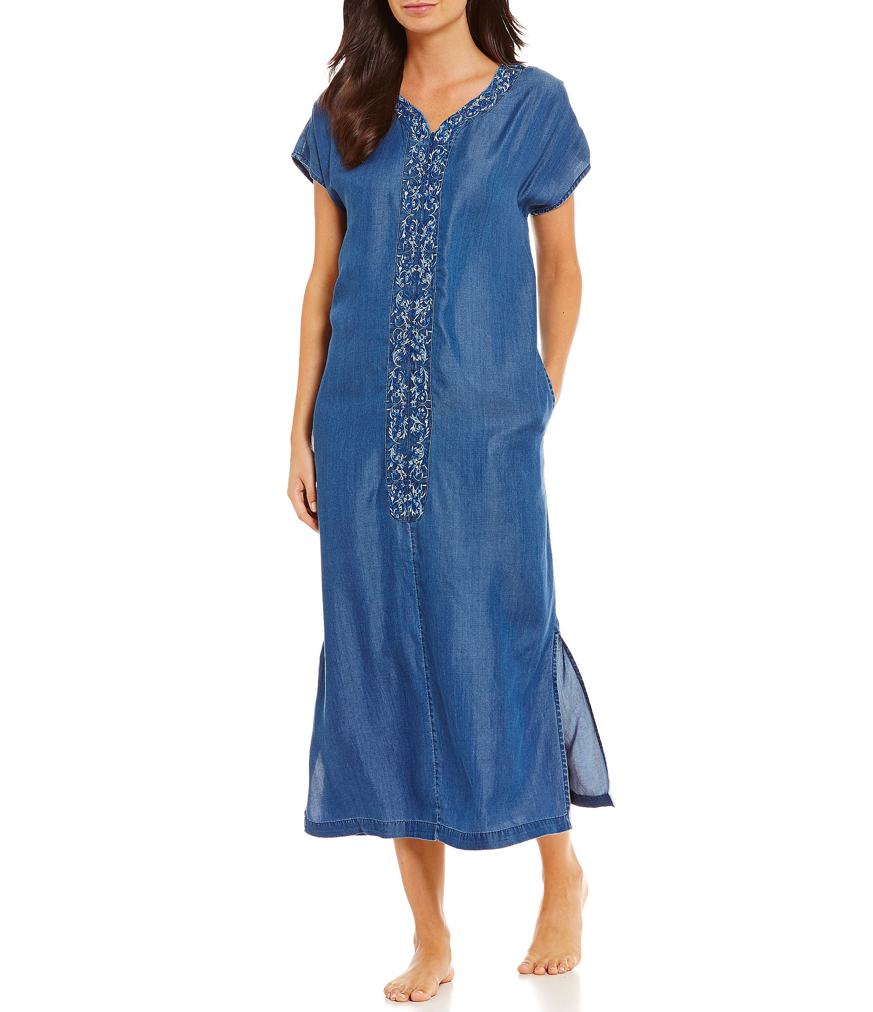 embroidered Patio Dresses & Caftans