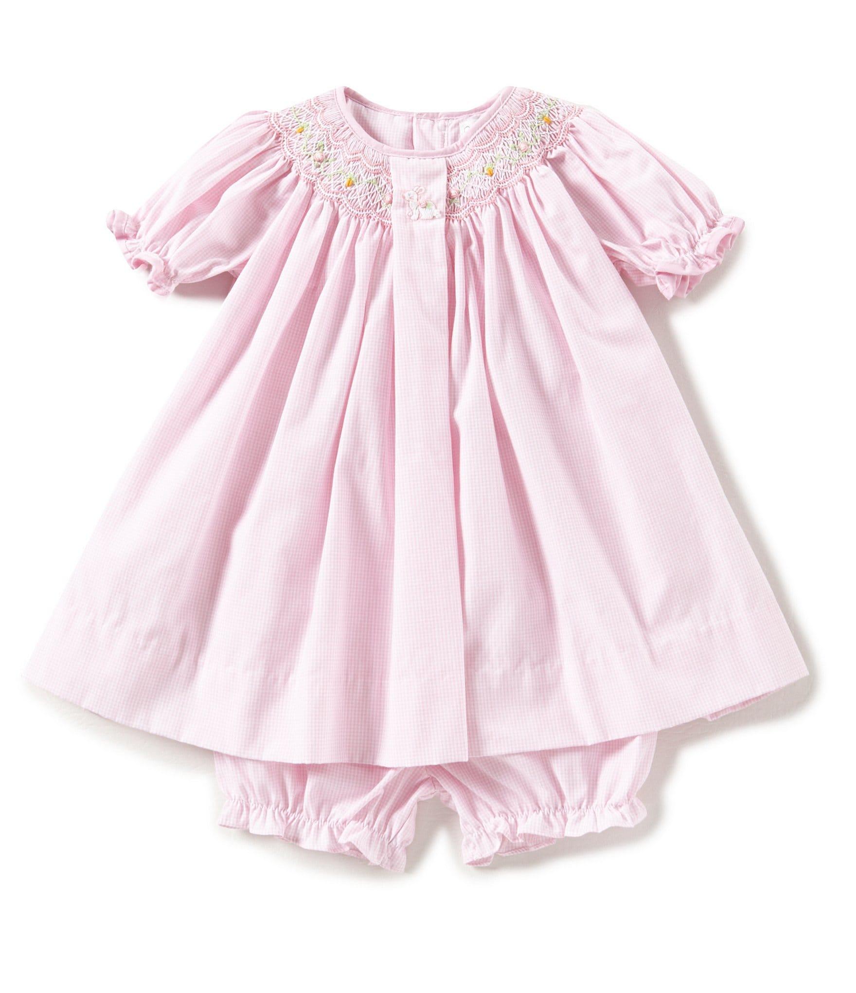 Petit Ami Kids Baby Baby Girls Apparel Dresses
