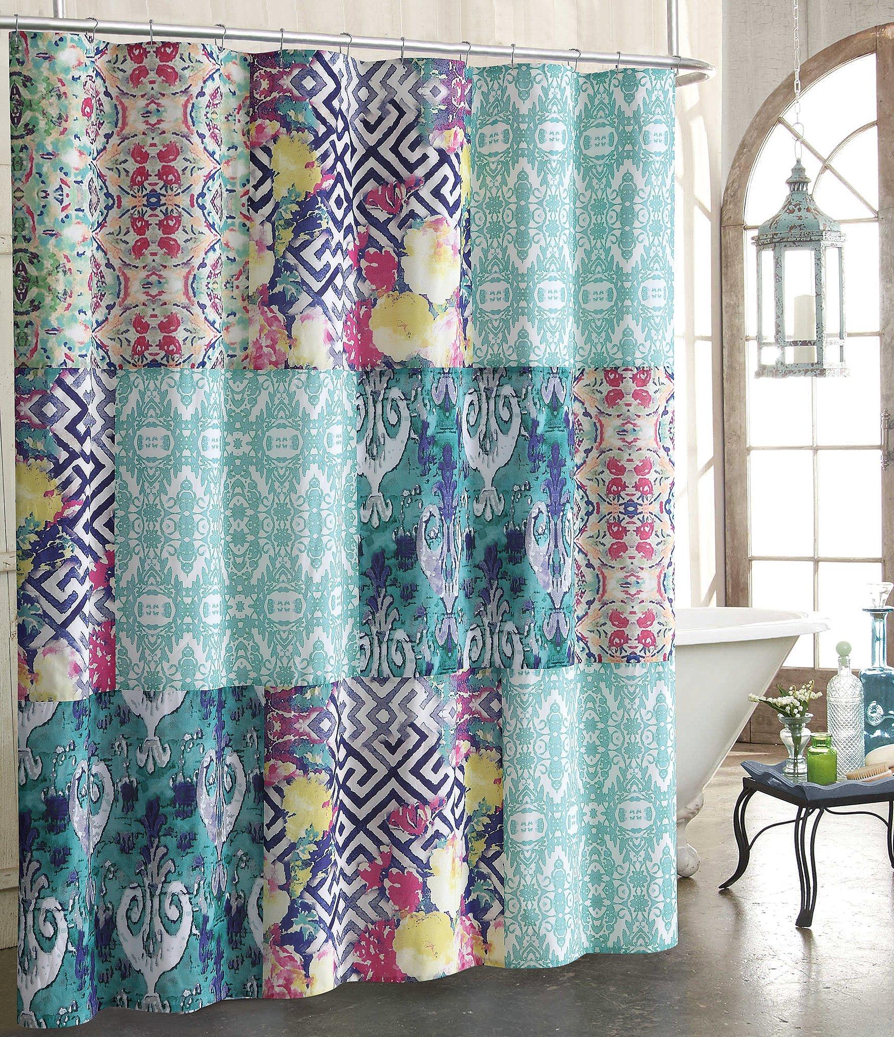 Solid teal shower curtain - Solid Teal Shower Curtain