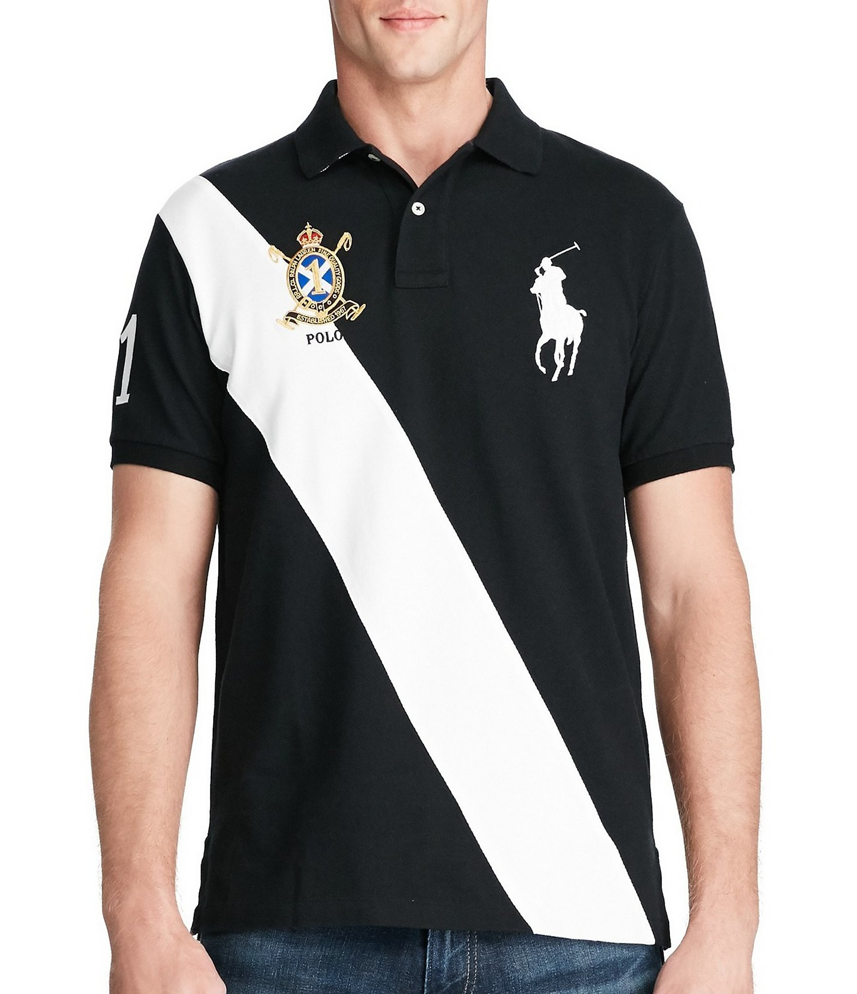 Polo Ralph Lauren Classic-Fit Big Pony Banner-Stripe Short-Sleeve Polo  Shirt | Dillards