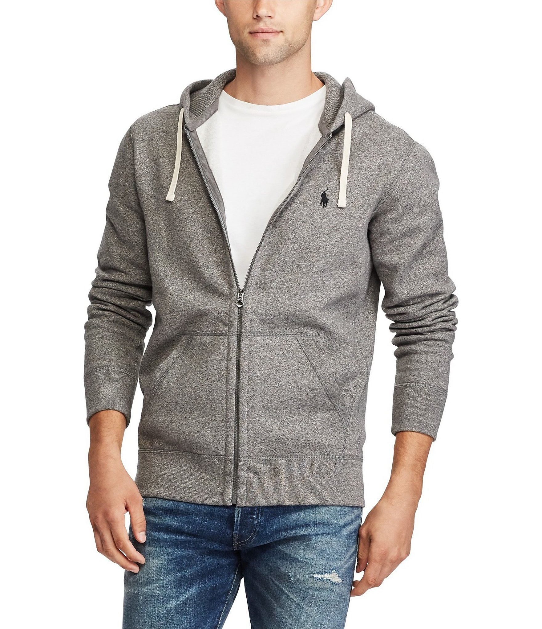 Polo Ralph Lauren Classic Solid Fleece Hoodie Jacket ...