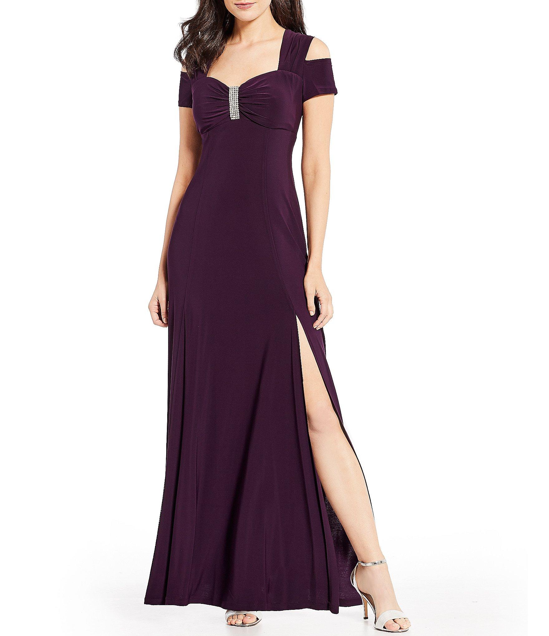 R m richards cocktail dress violet
