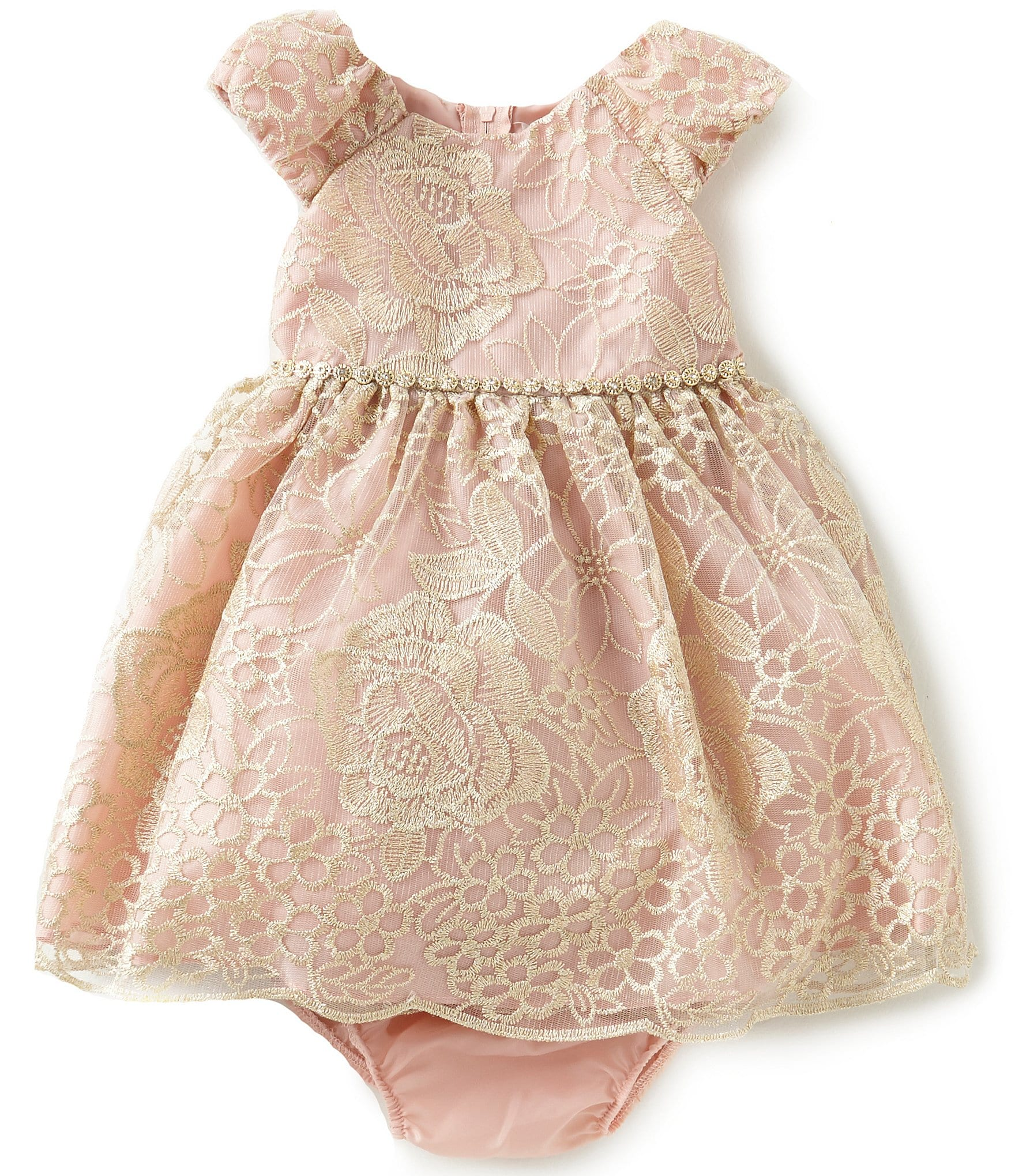 Rare Editions Baby Girls 12-24 Months Embroidered Mesh ...