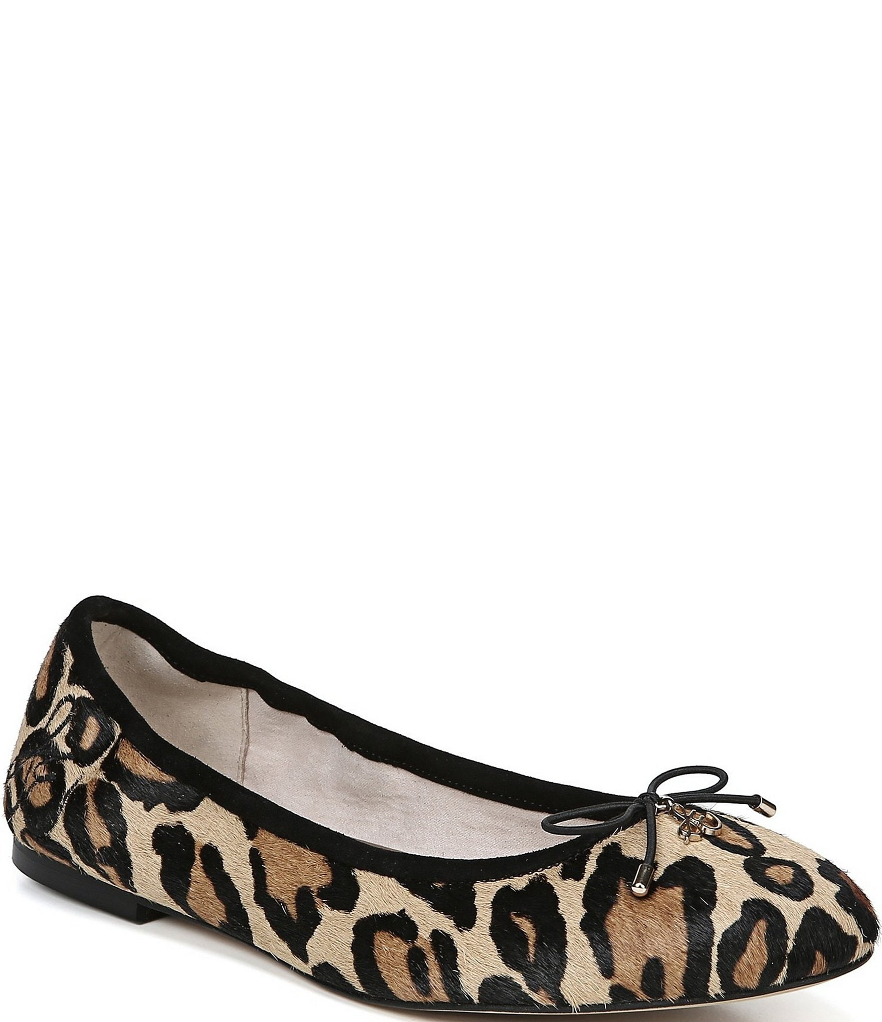Albany Leopard Print Leather Flats