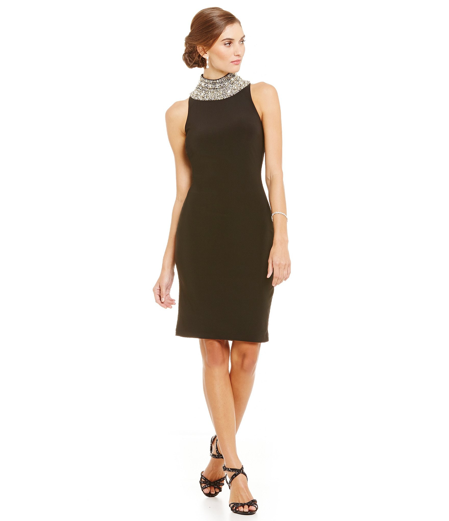 Black dress cover up 7354