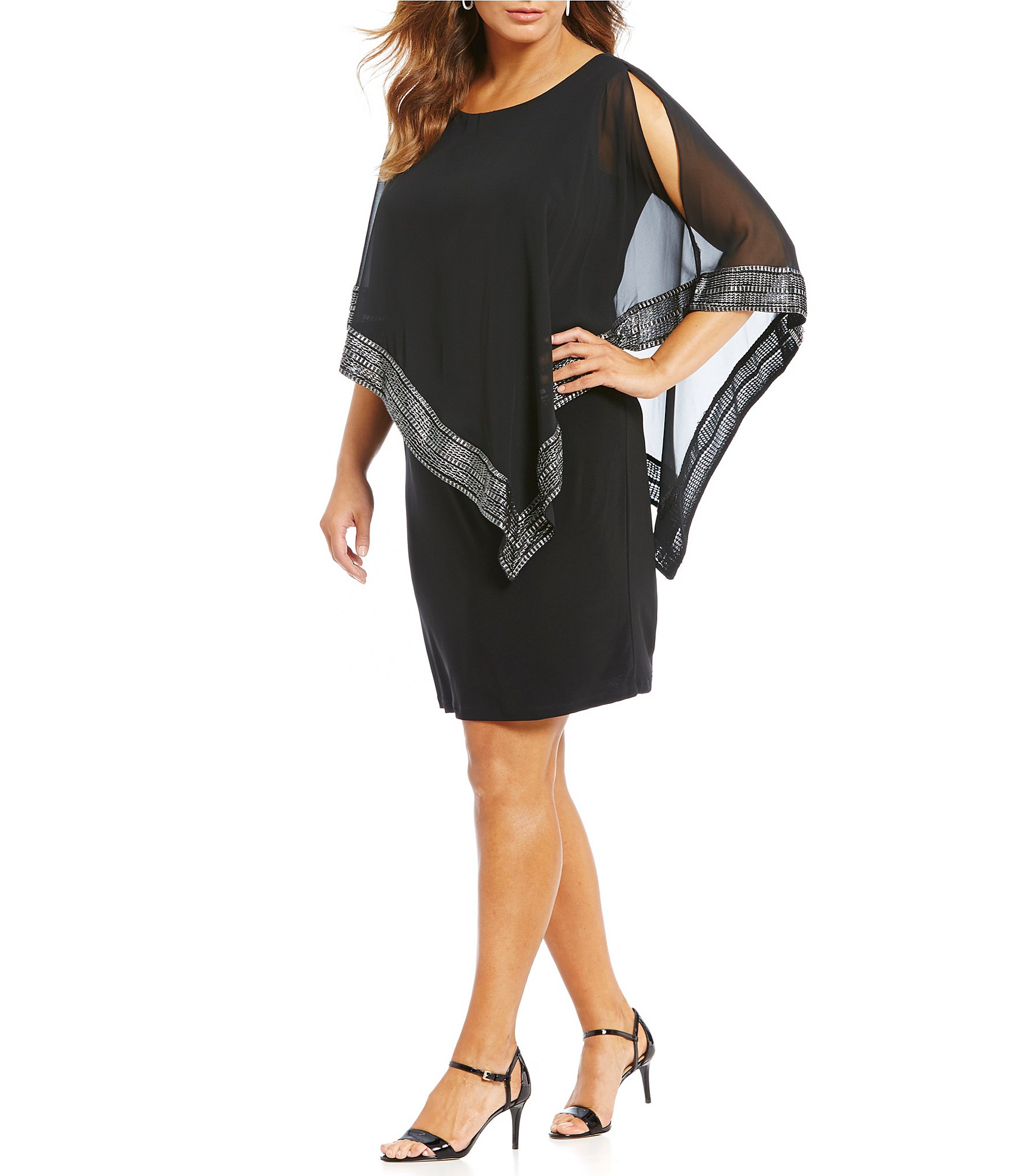 Plus-Size Short-Sleeve Cocktail Dresses | Dillards