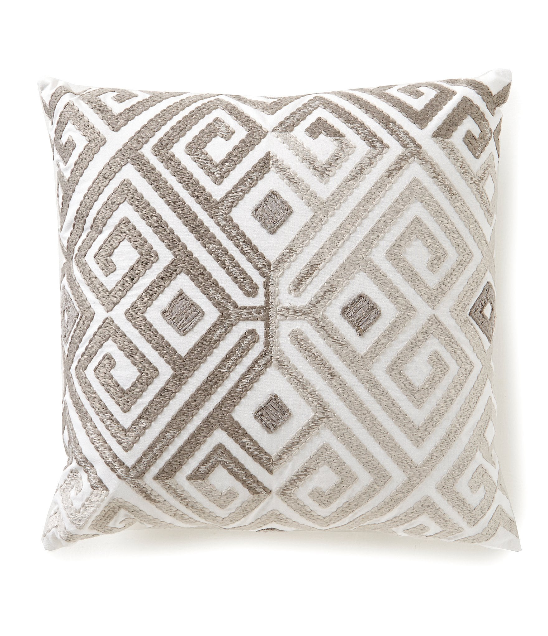 Southern living geometric embroidered oversized square