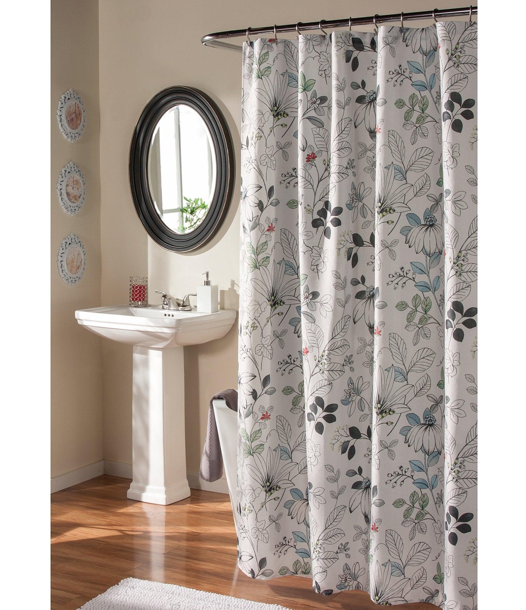Home Bath  Personal Care Shower Curtains  Rings Dillardscom - Burgundy shower curtain sets