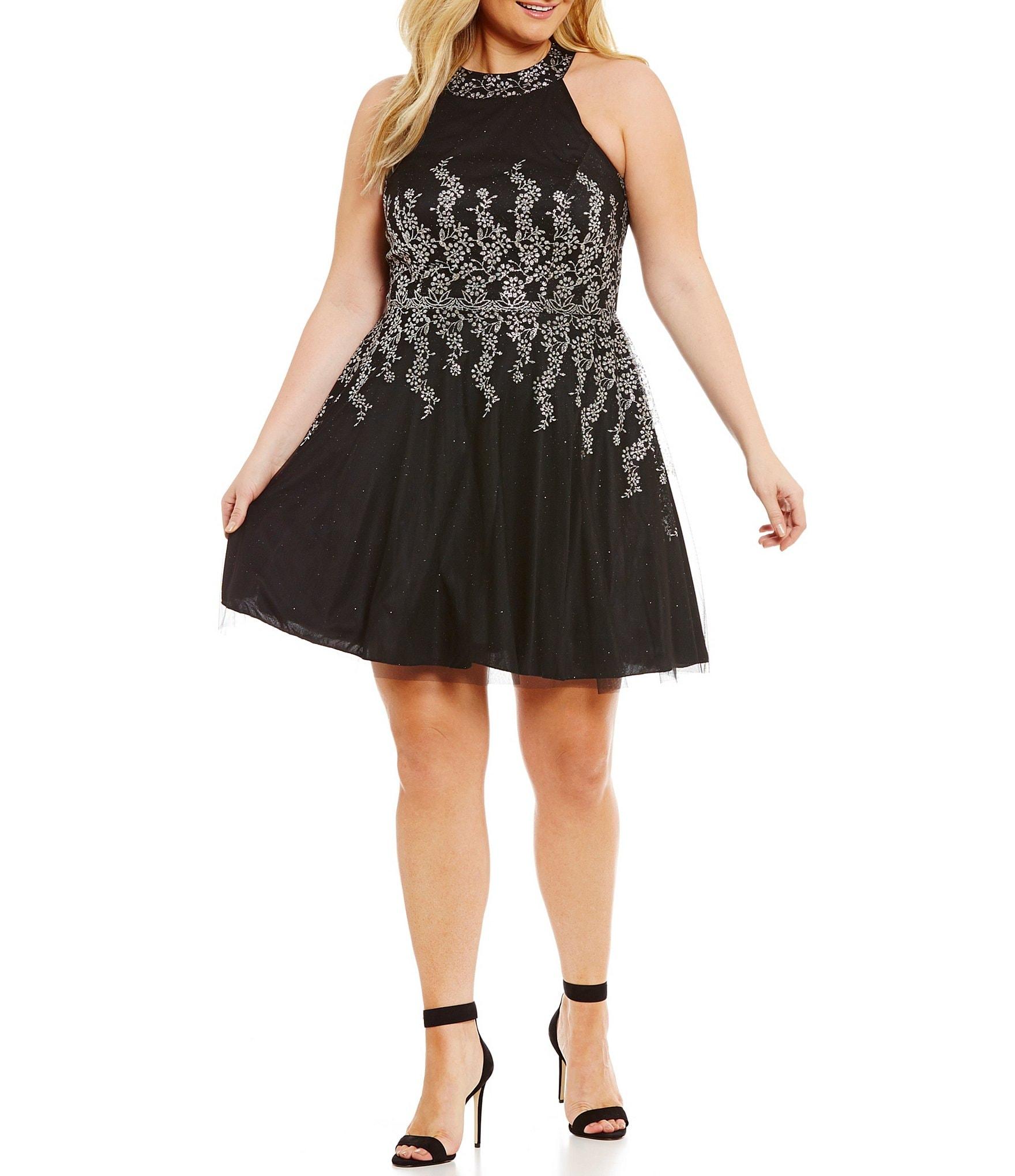 dillards cocktail dresses plus size
