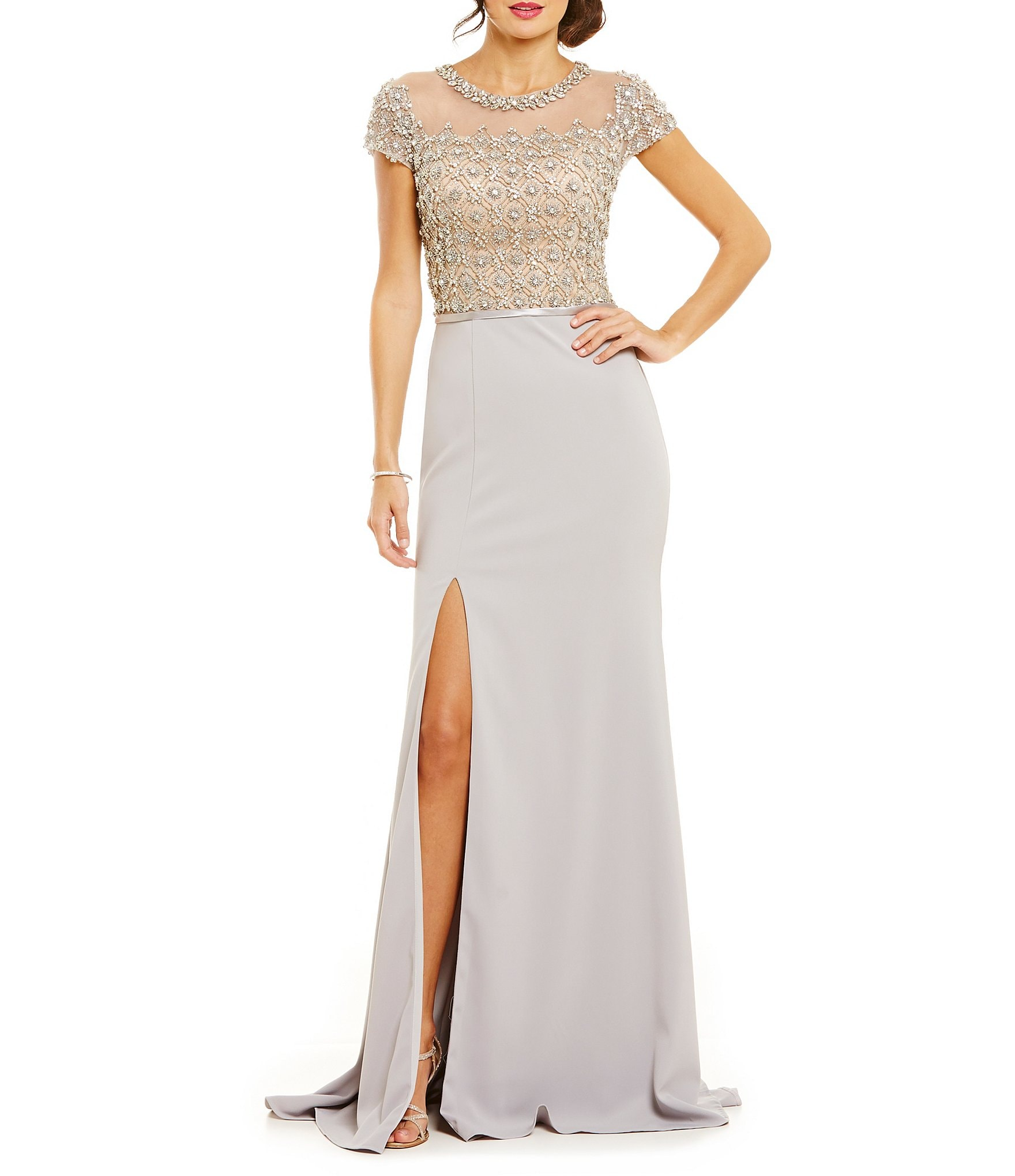 Terani Couture Beaded Bodice Gown | Dillards