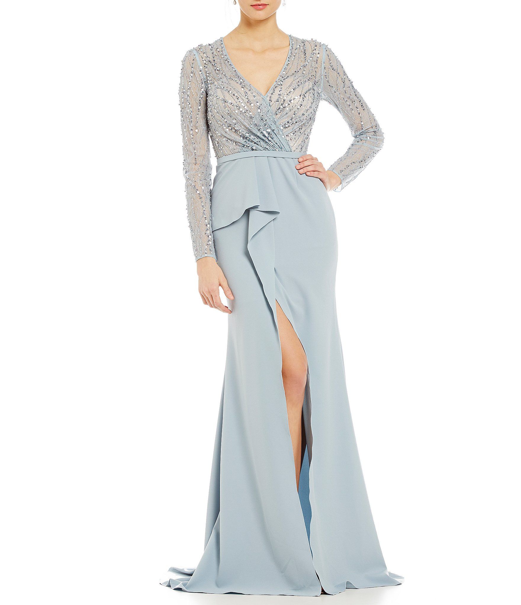 Women\'s Long-Sleeve Formal Dresses & Gowns | Dillards
