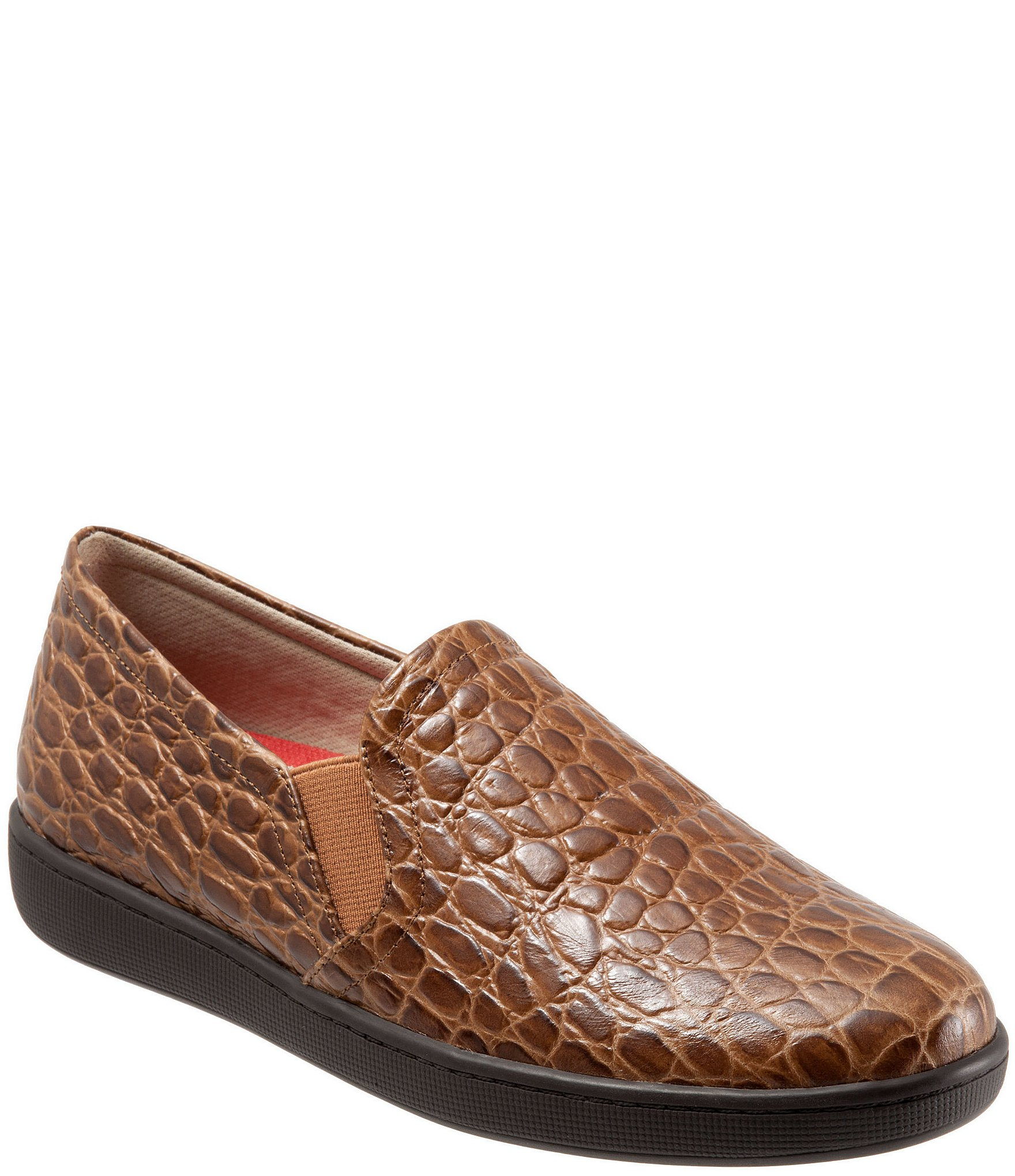 Briley Embossed Croc Leather Loafers qn9pT
