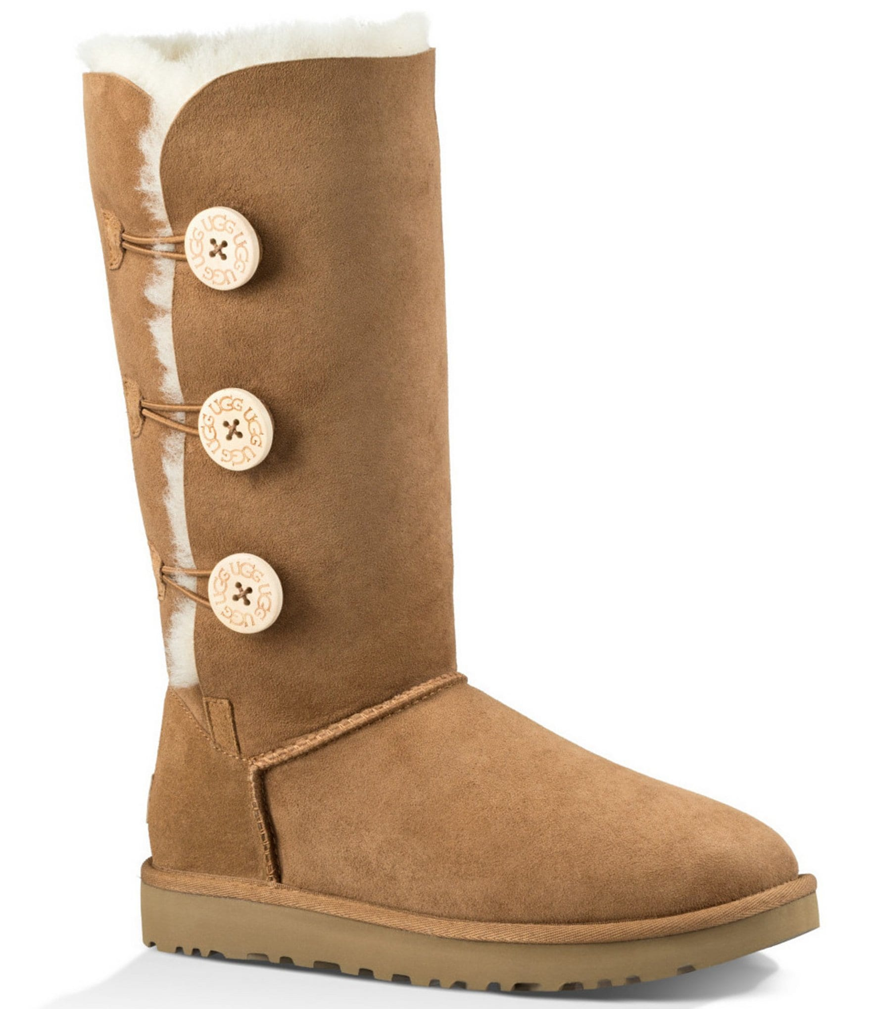ugg 174 bailey button triplet ii boots dillards