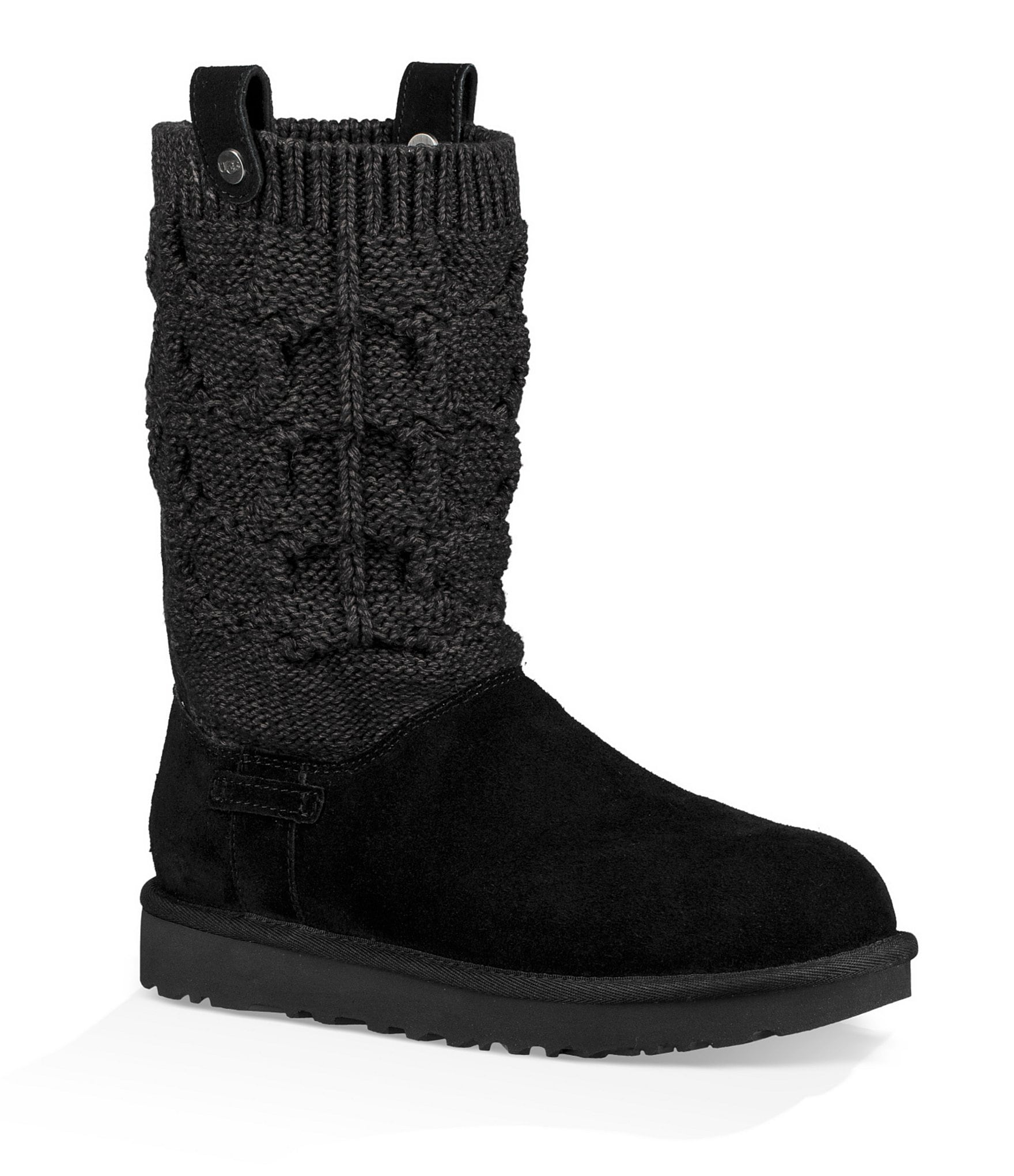 ugg grey knit boots