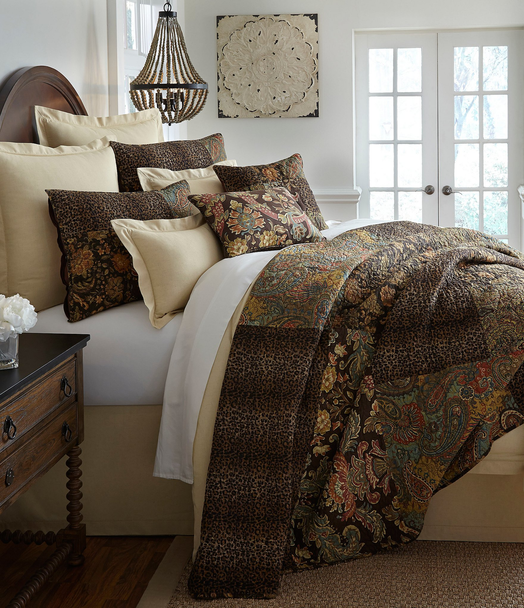 Bedding Bedding Collections Dillards - Brown pattern bedding double duvet set calvin klein bamboo bedding