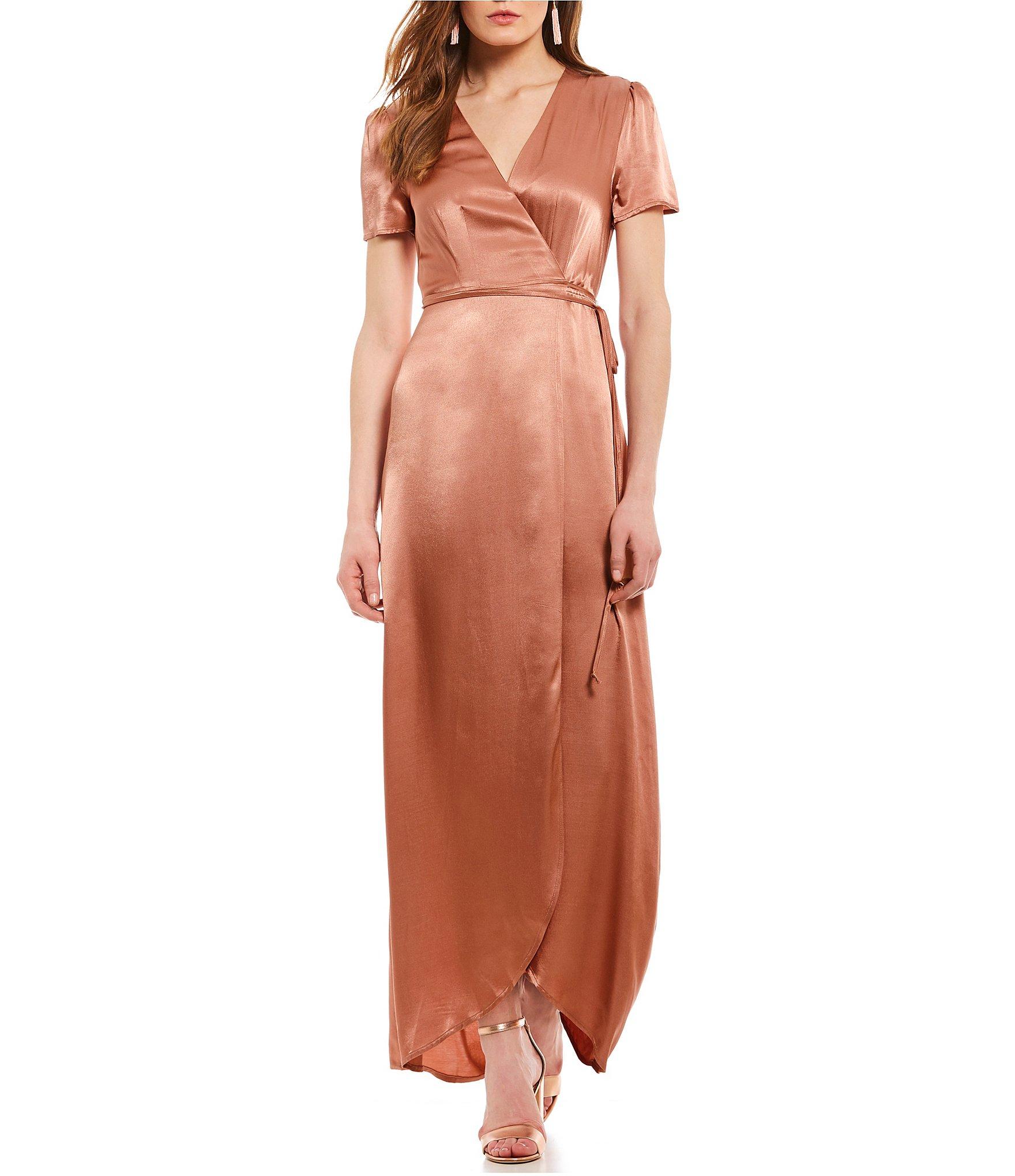 Rose coloured maxi dress